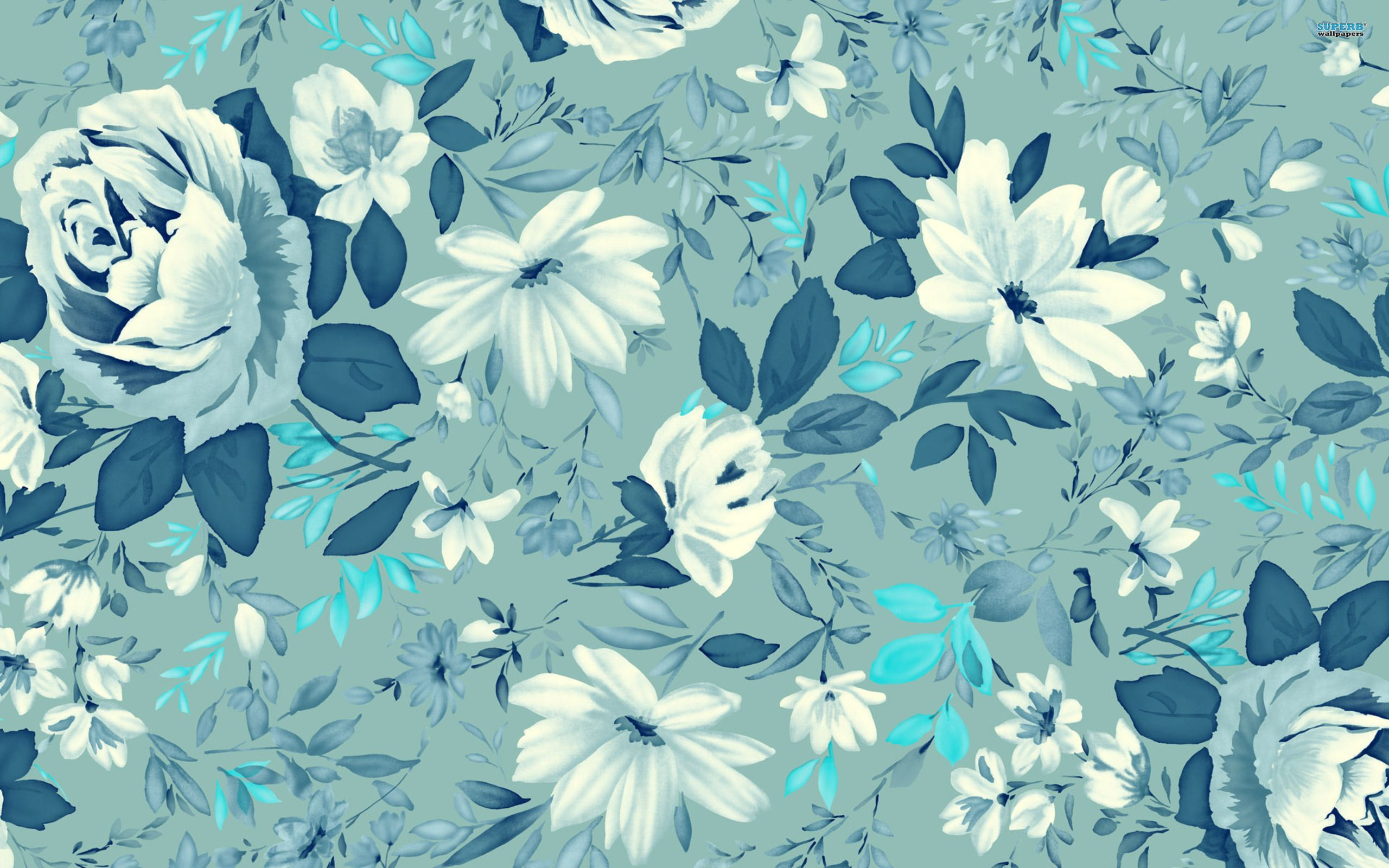 2560x1600 ಌ.blue Flowers Design.ಌ wallpaper free | HD Desktop Wallpapers ...