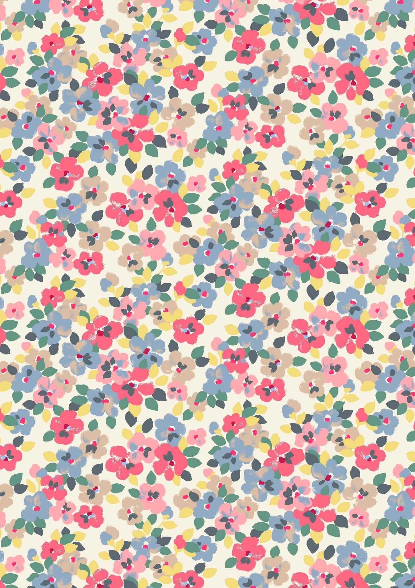 1447x2047 Painted Pansies | an energetic new floral in bright, punchy colours ...