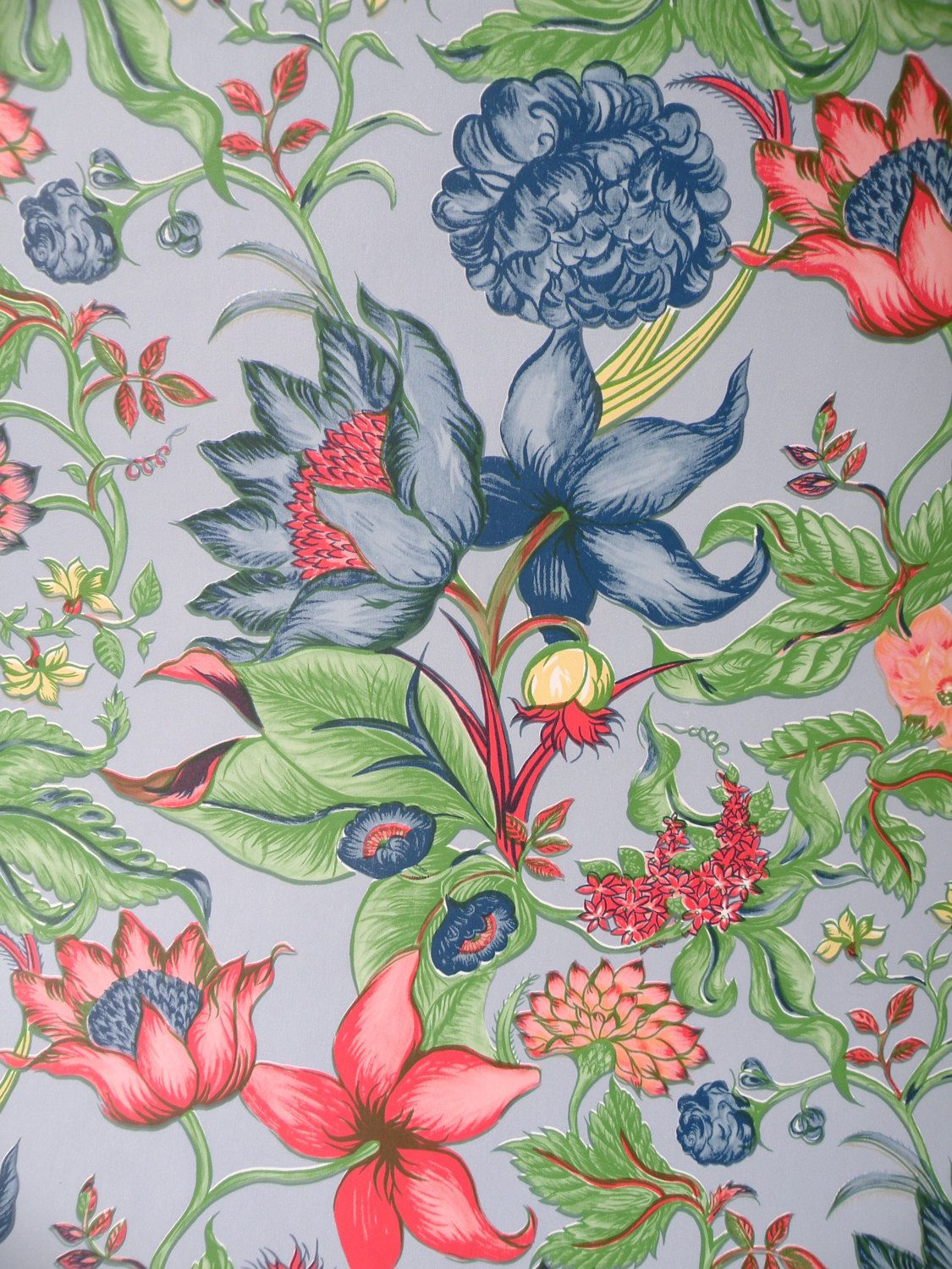 1125x1500 Vintage Floral Wallpaper-Vinyl Wallpaper-Watercolor