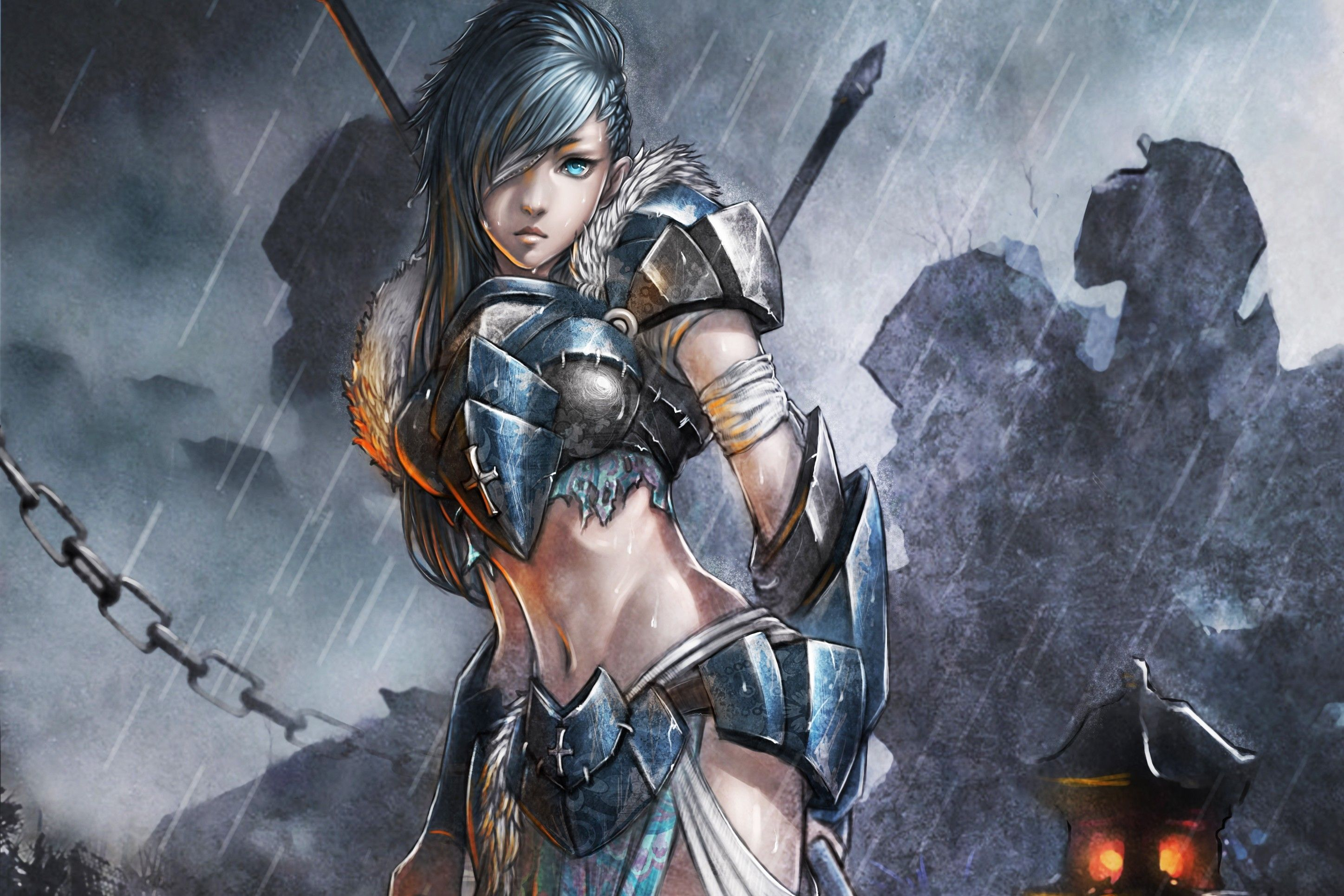 2894x1931 1185 Women Warrior HD Wallpapers   Background Images - Wallpaper Abyss