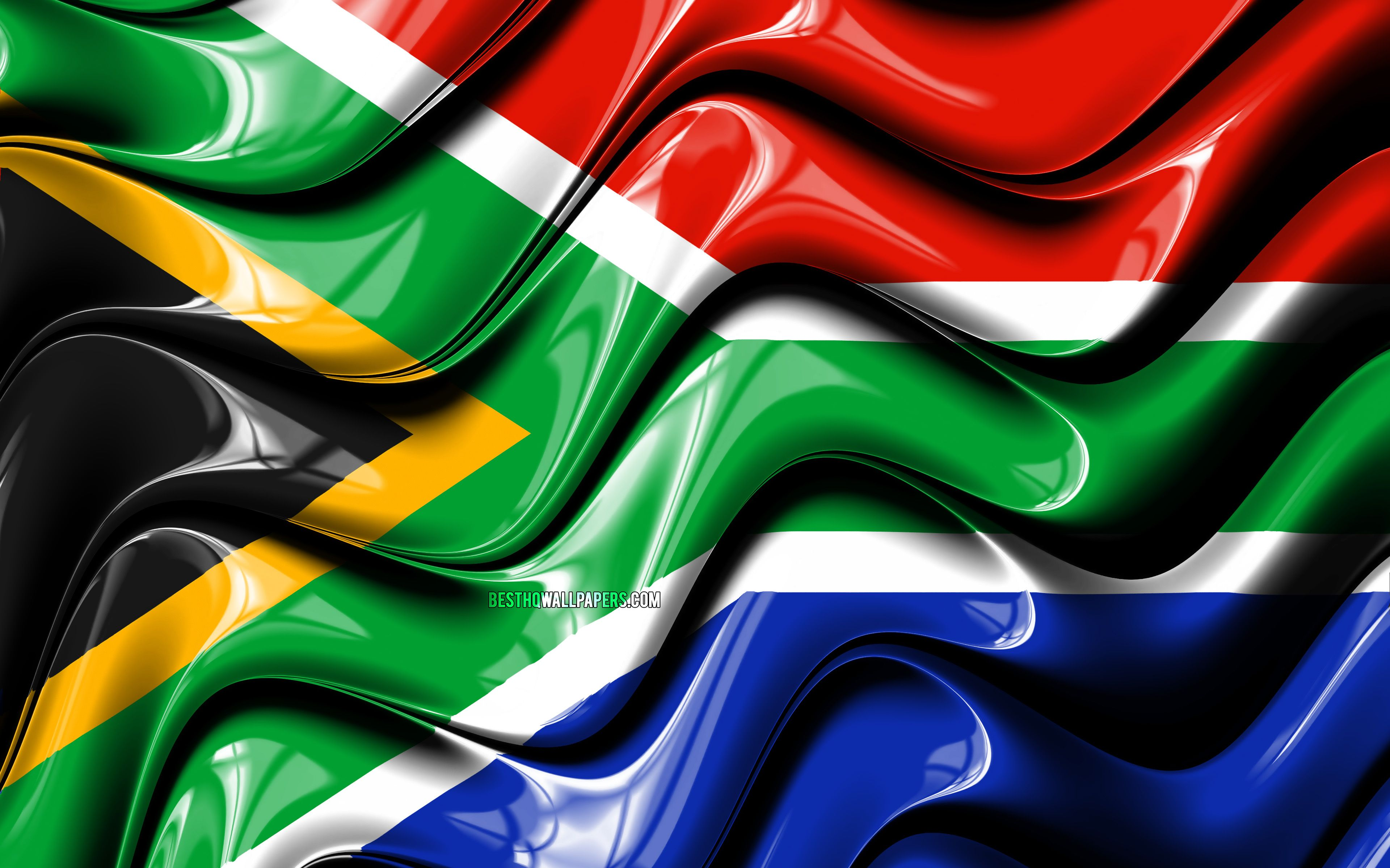 3840x2400 Download wallpapers South African flag, 4k, Africa, national ...