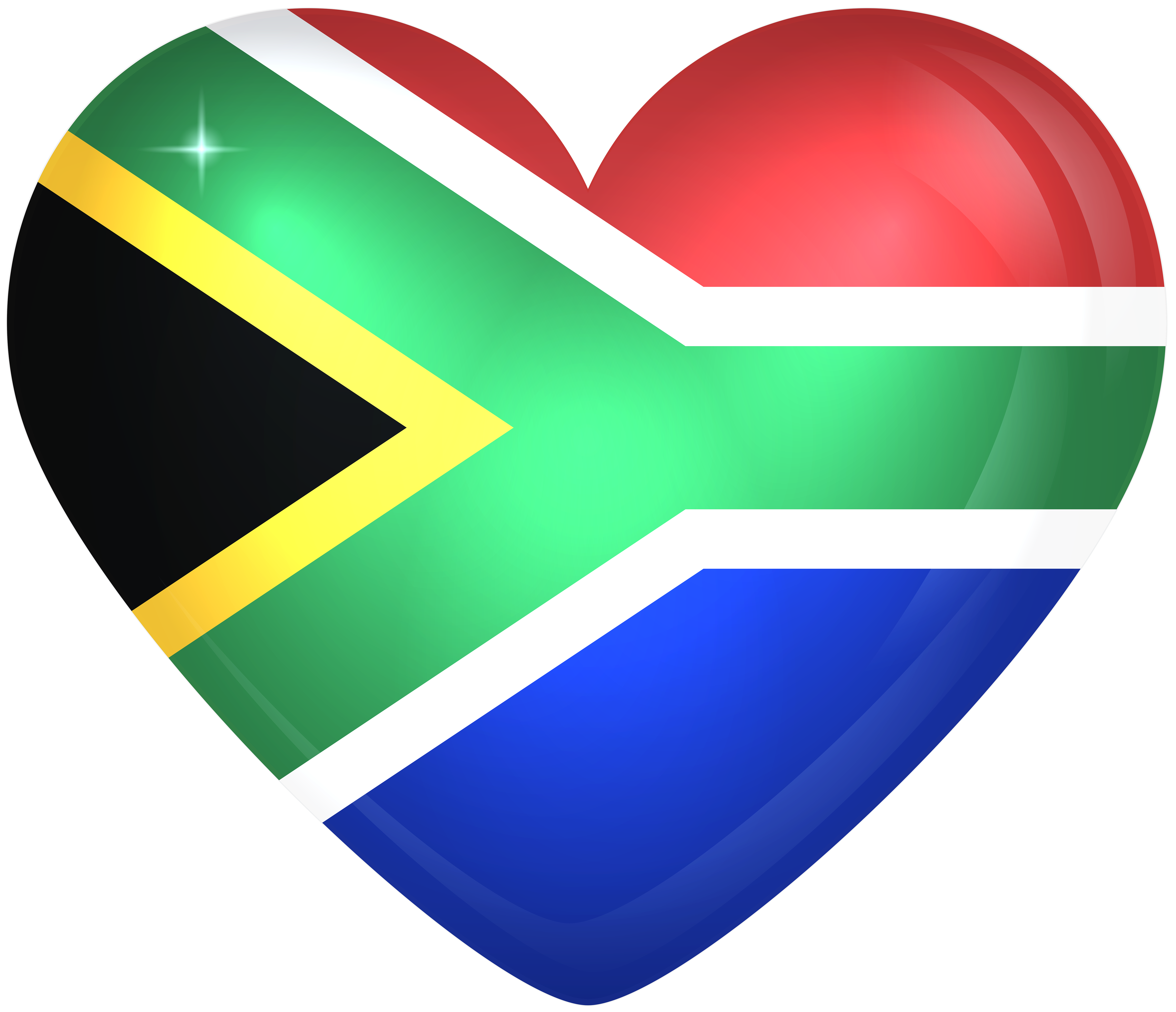 6000x5164 South Africa Large Heart Flag | Gallery Yopriceville - High ...