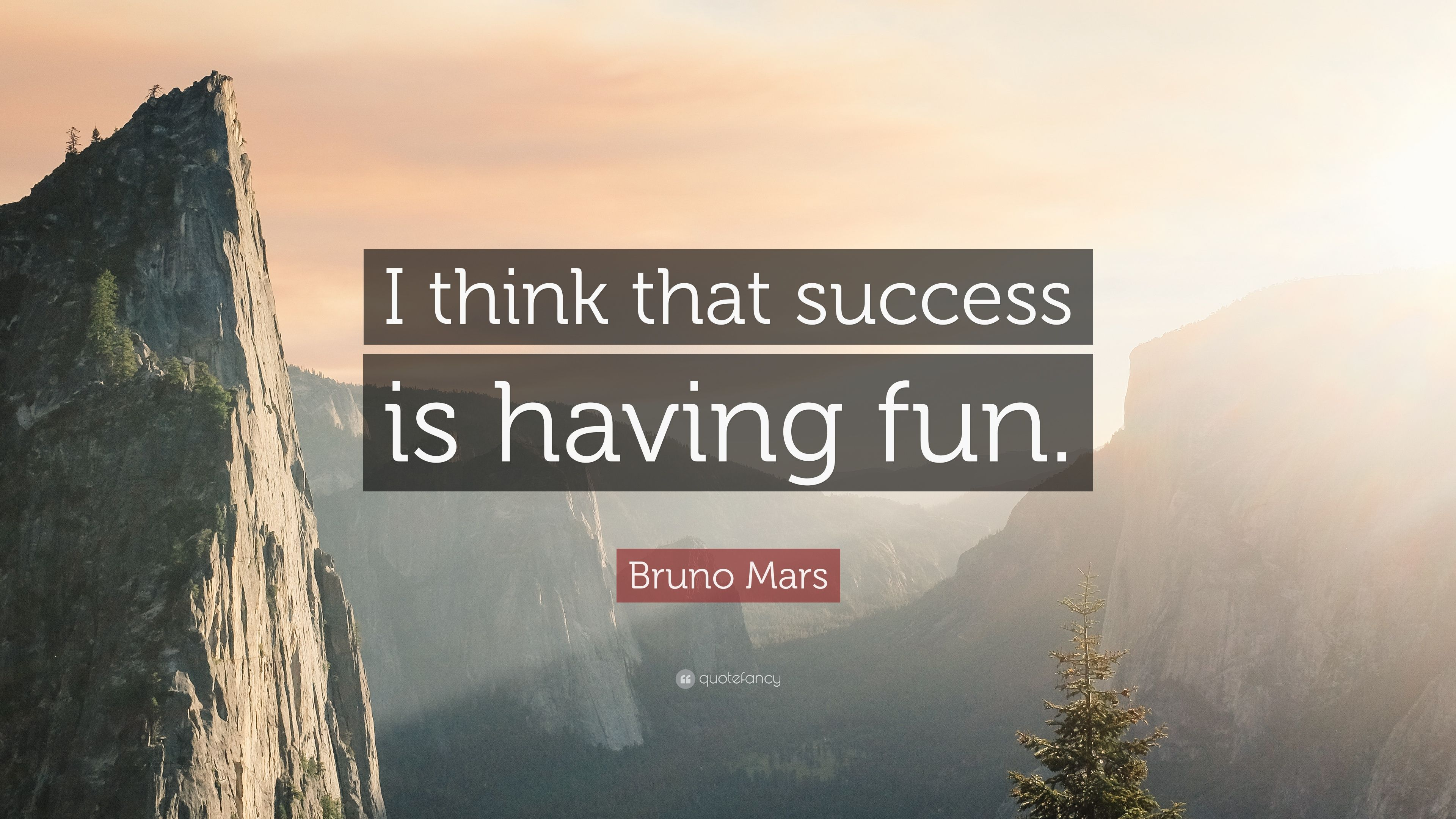 """3840x2160 Bruno Mars Quote: """"I think that success is having fun."""" (9 ..."""
