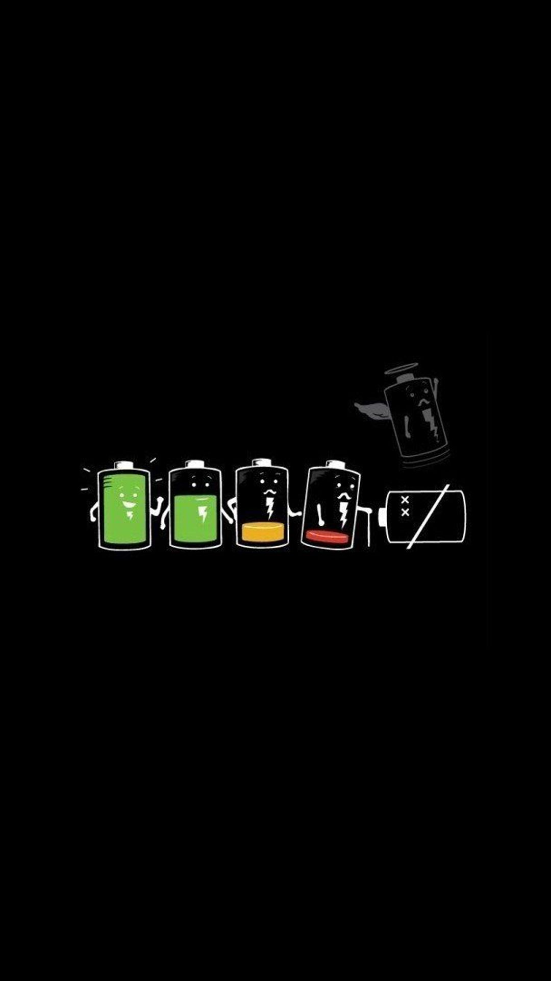 1080x1920 The Battery Life. Funny cartoon art iPhone wallpapers. Tap to see ...