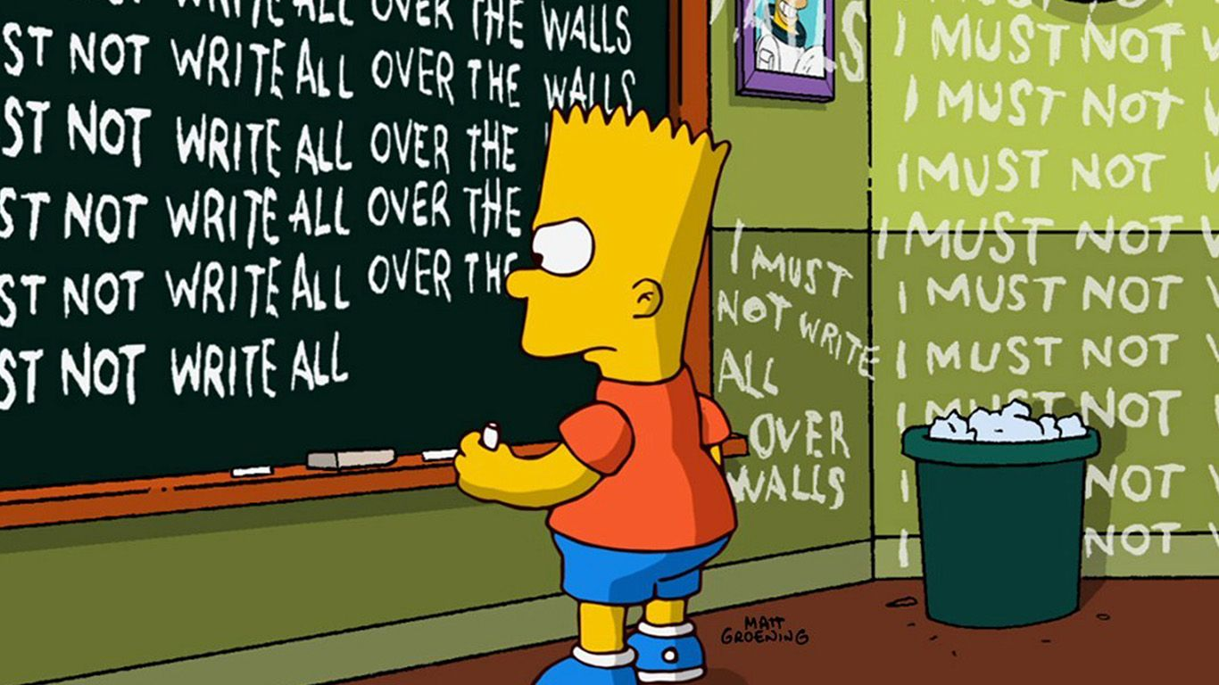 1366x768 wallpaper for desktop, laptop | at91-bart-simpson-simsons ...