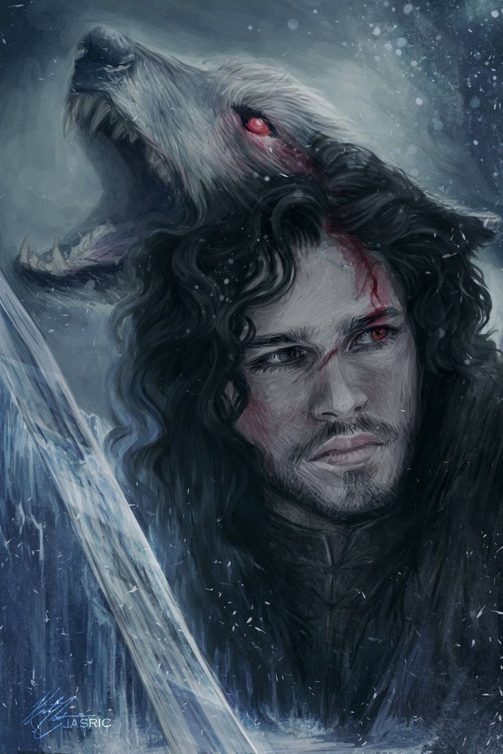 730x1095 Jon Snow And Ghost Wallpapers Photo