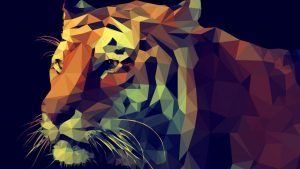 Polygon Tiger Wallpapers – Top Free Polygon Tiger Backgrounds