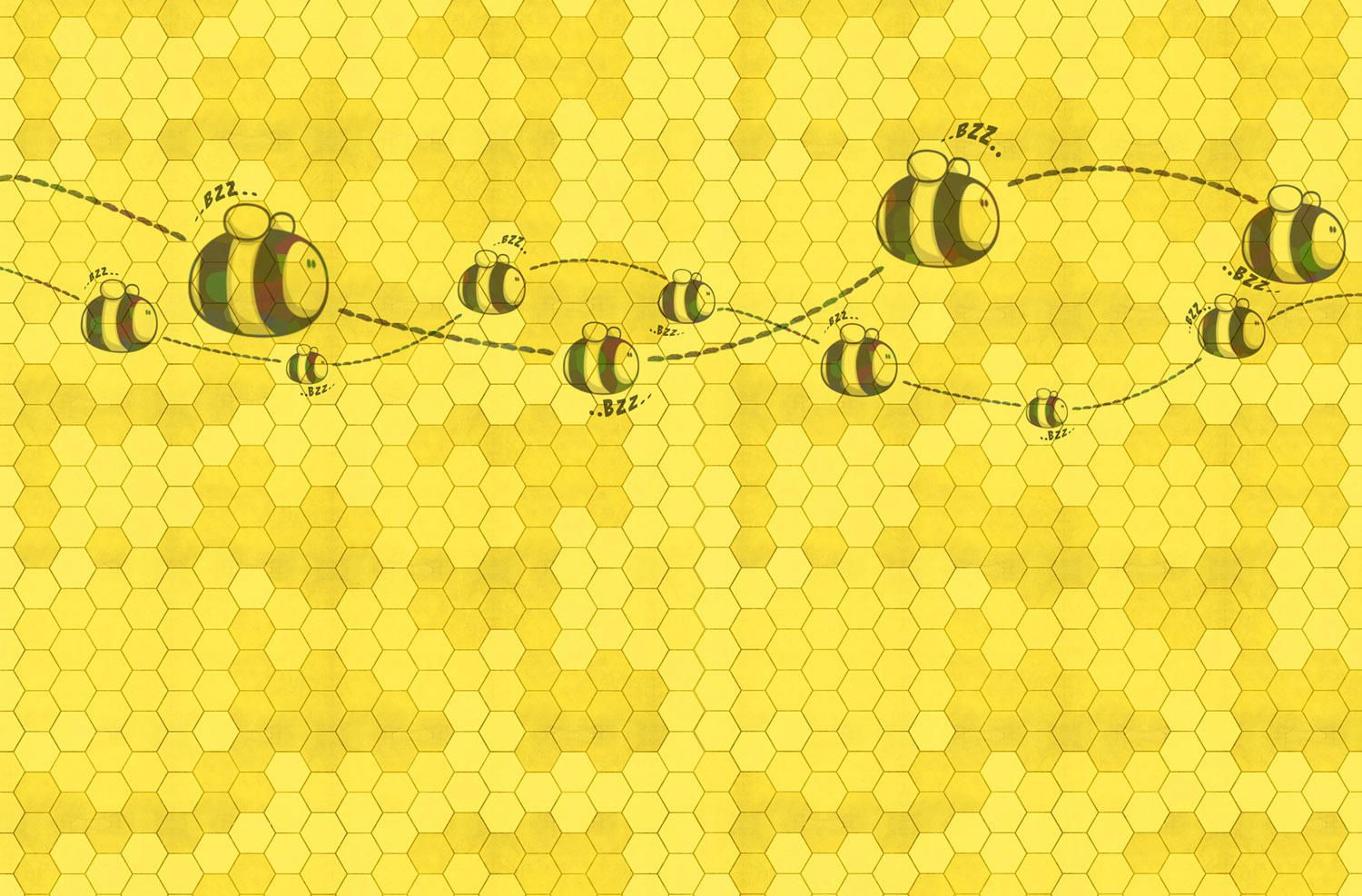 1500x987 HONEY TO THE BEE - Wall coverings / wallpapers from ...