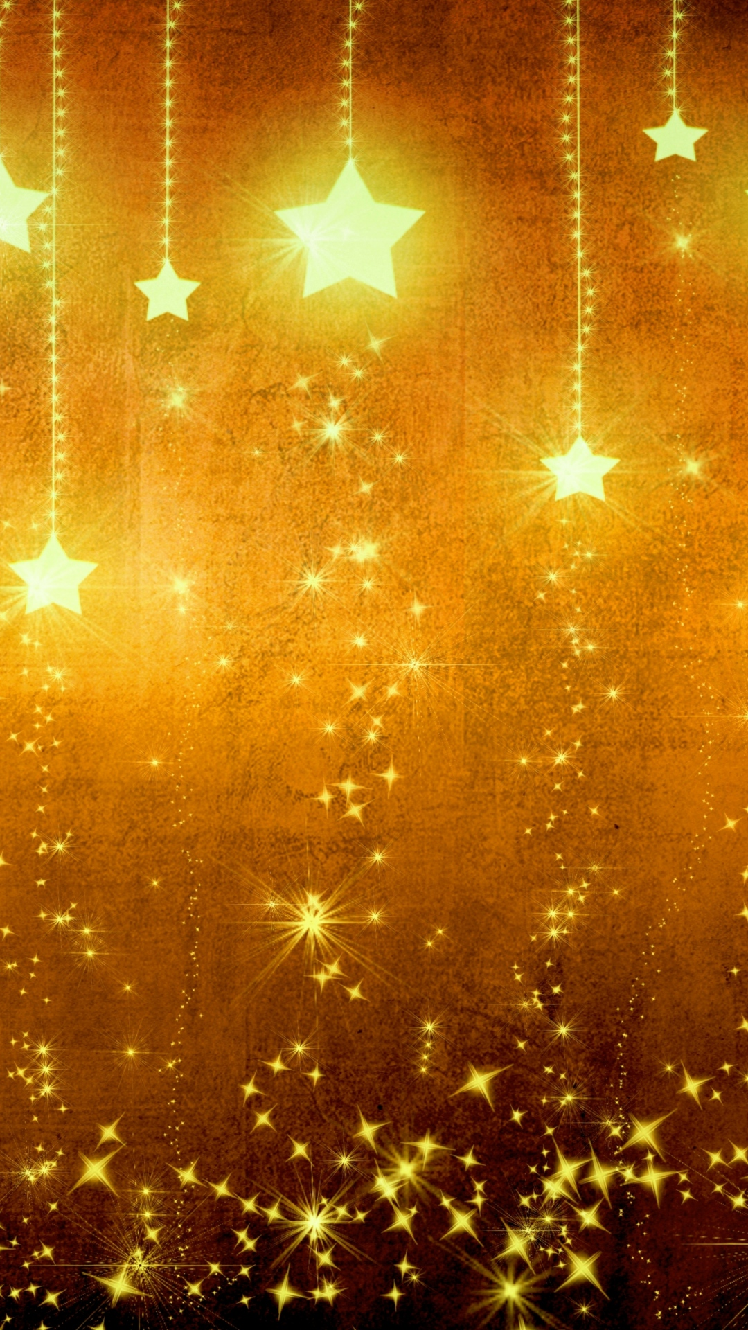 1080x1920 Star Gold Holiday Background Brown Yellow Light Texture ...