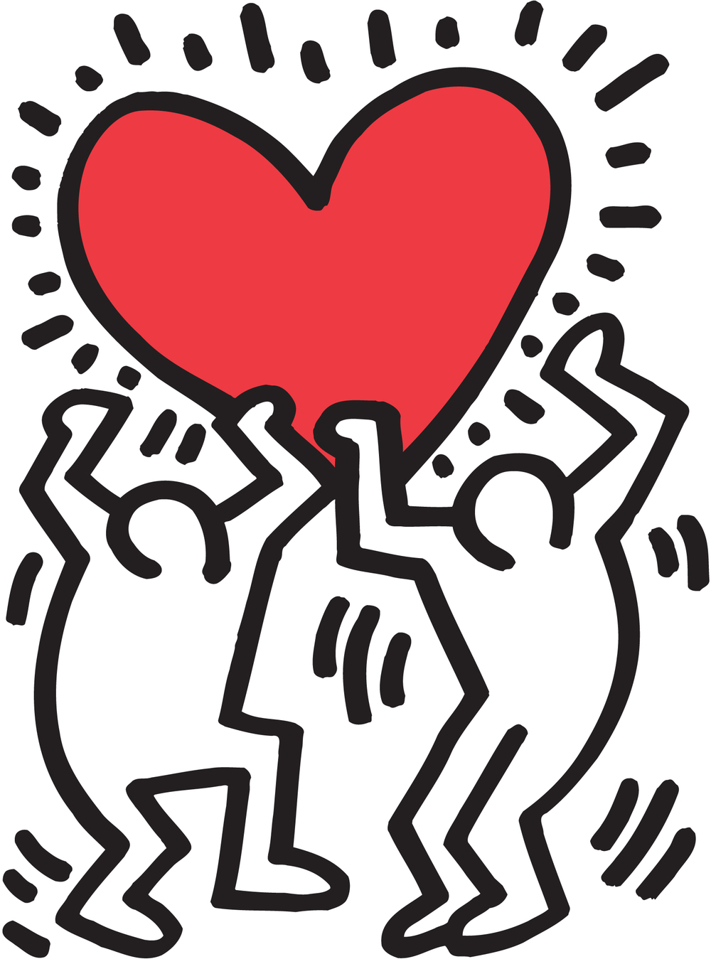 1000x1356 Keith - Keith Haring Holding Heart, Hd Wallpapers ...