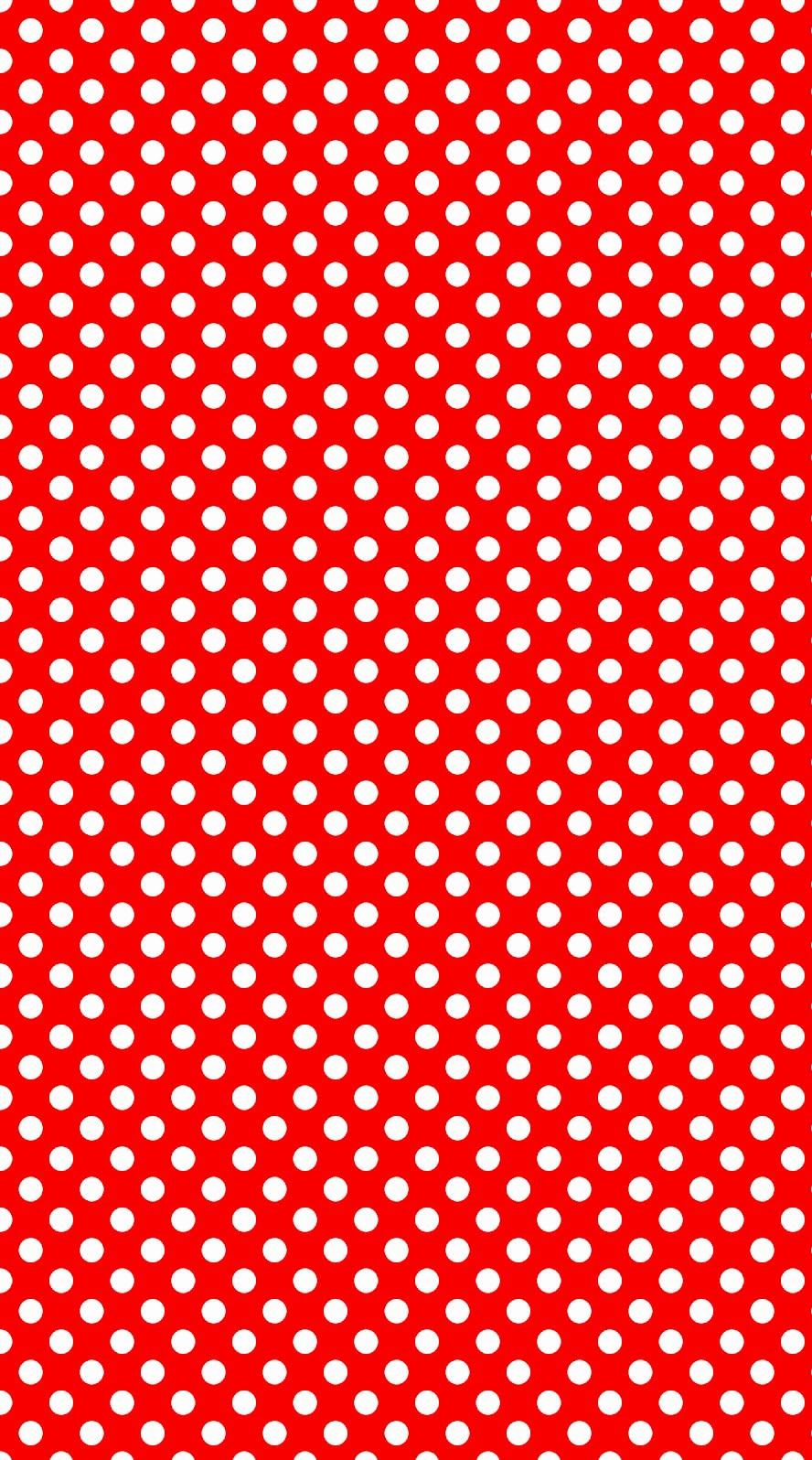 888x1596 Free download Red and White Polka Dot Background by ...