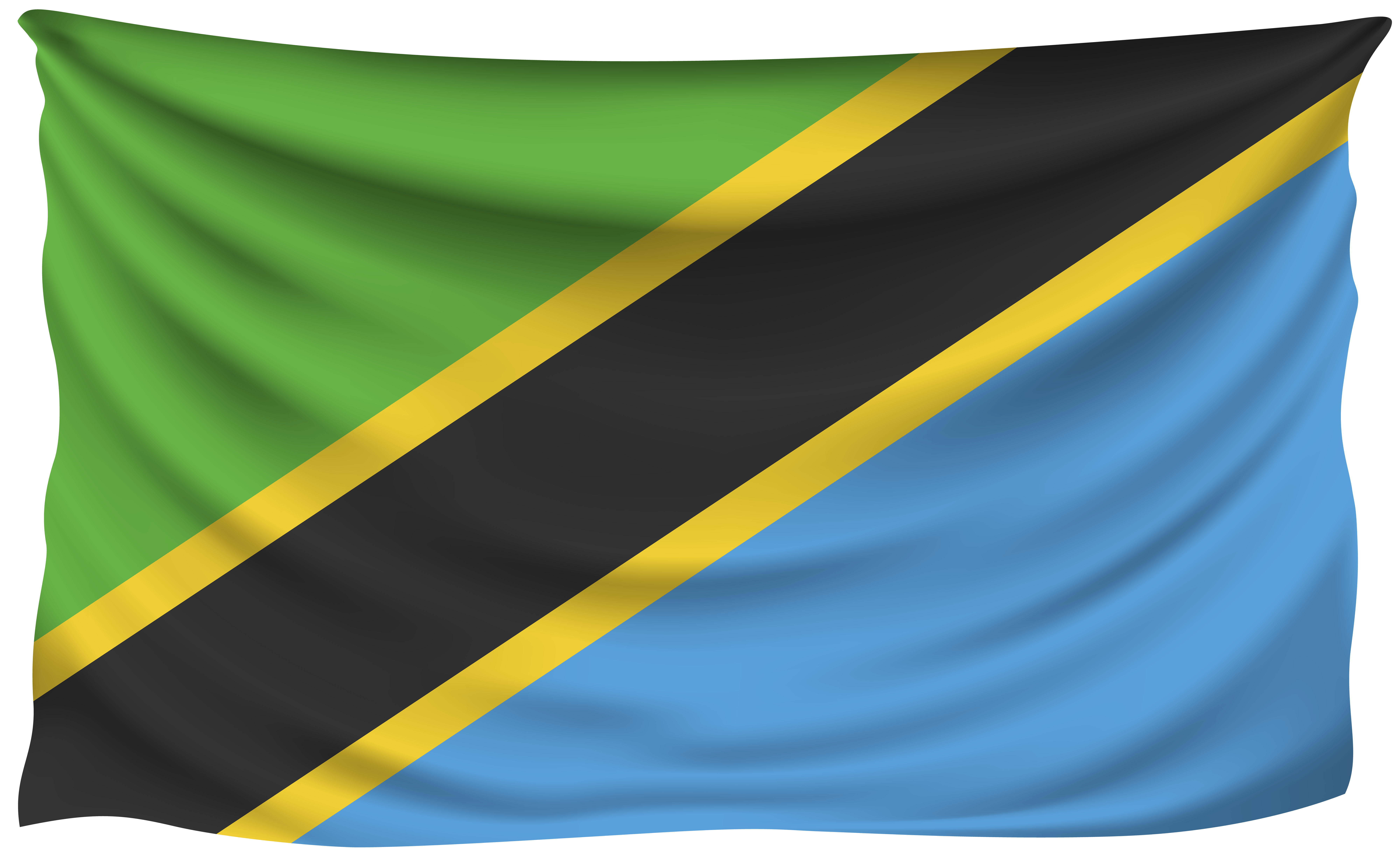 8000x4897 Tanzania Wrinkled Flag | Gallery Yopriceville - High ...