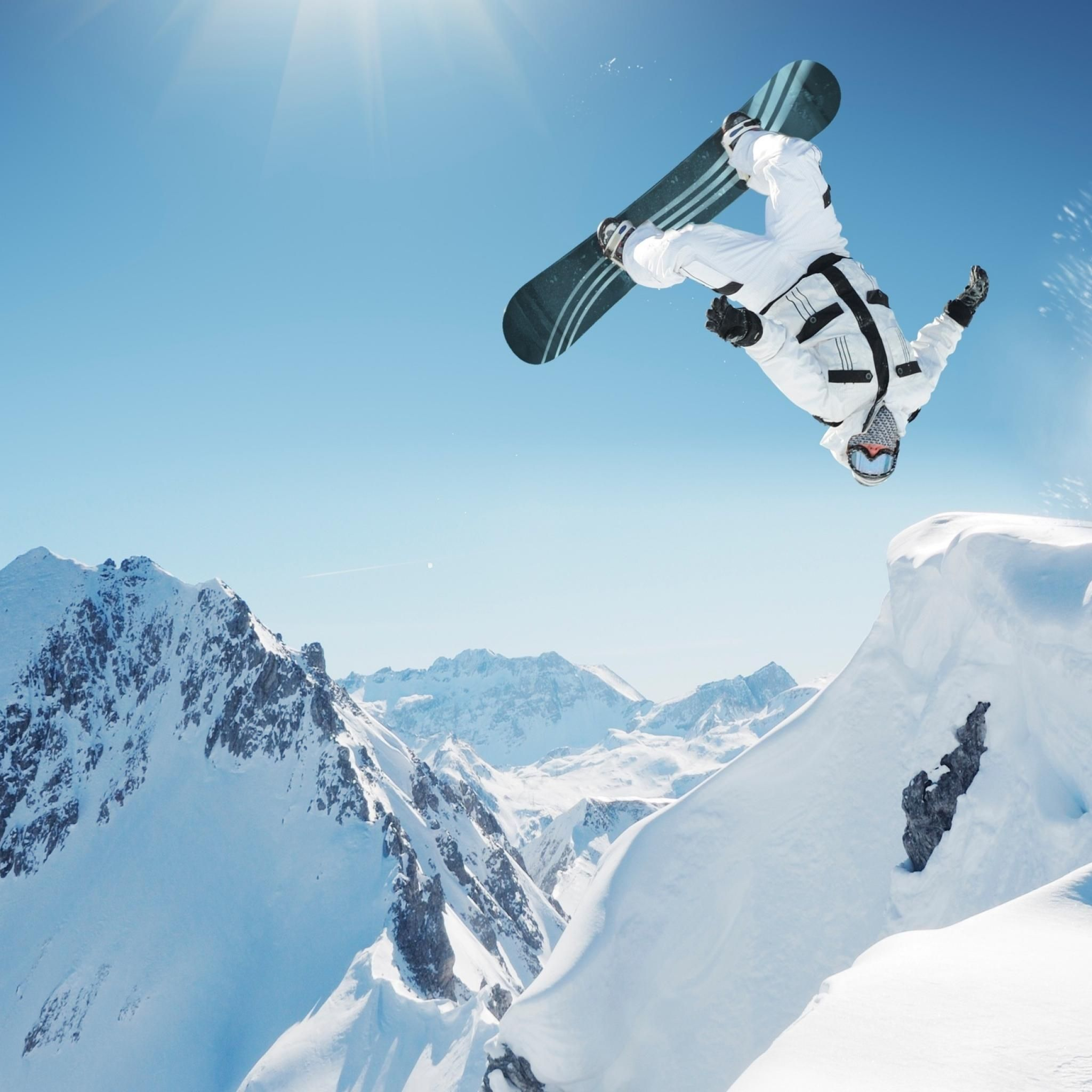 2048x2048 Snowboarding iPad Wallpaper HD #iPad #wallpaper | Wallpaper ...