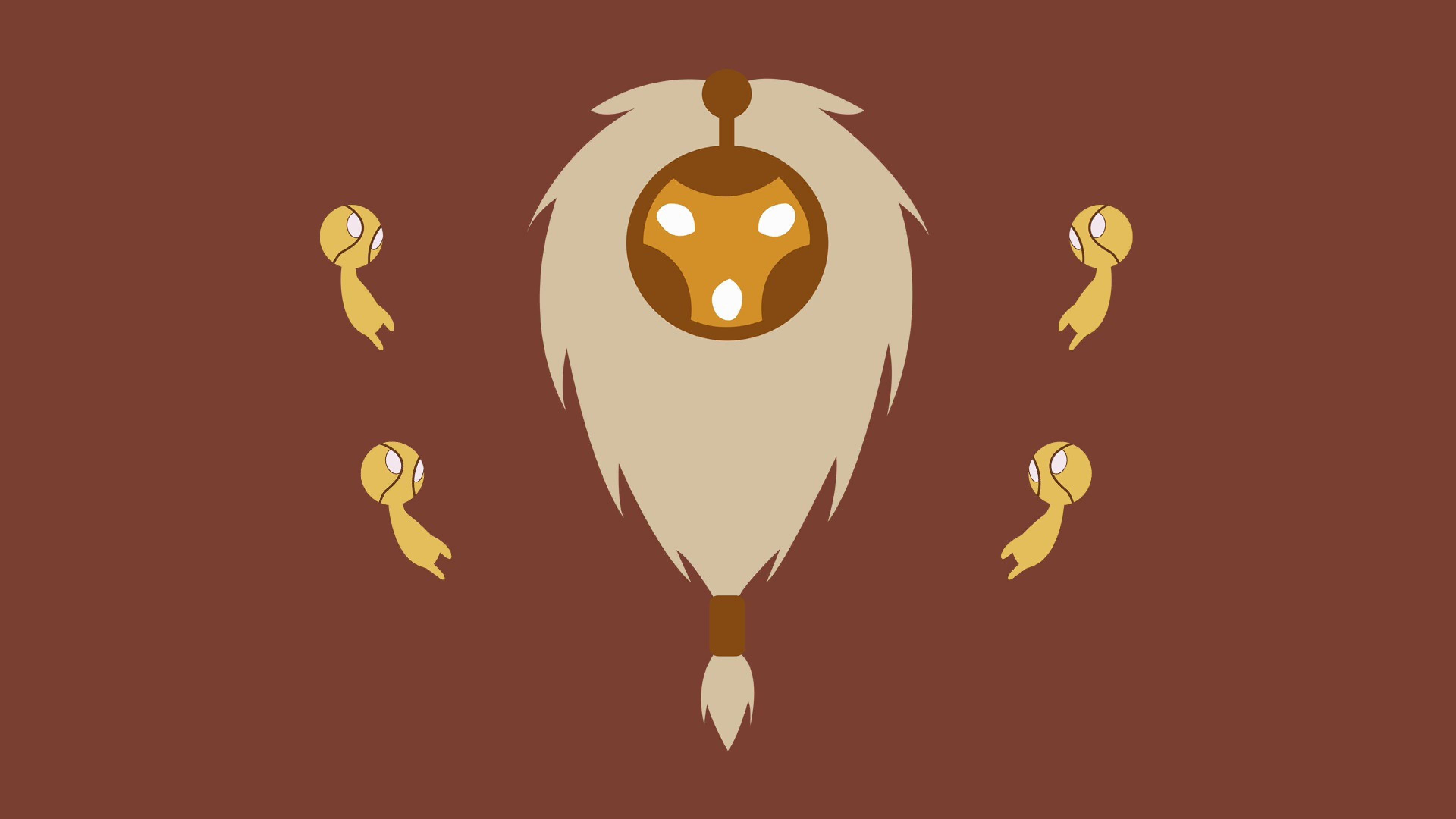 3840x2160 HD Background League Of Legends Game Minimalism Brown Wallpaper ...
