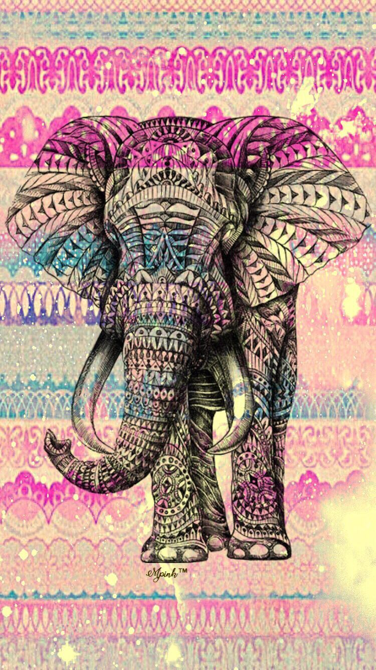 750x1334 Vintage Boho Elephant Wallpaper iPhone/Android Wallpaper I Created ...