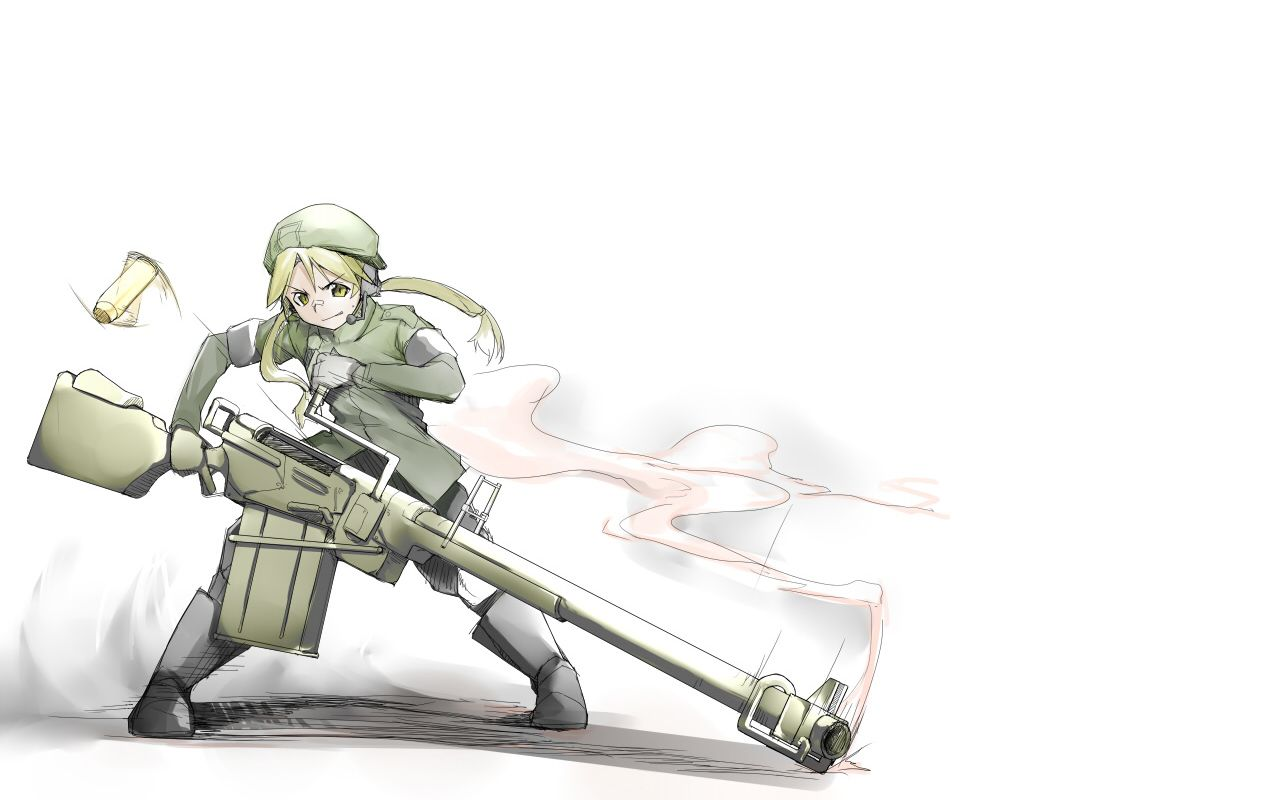 1280x800 Anime Girls With Weapons Wallpapers