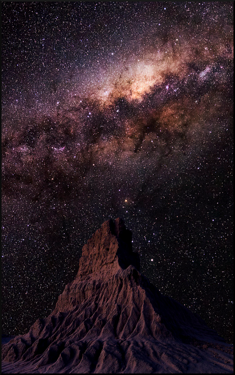804x1280 MilkyWay over Moon-Like Landscape/Mountain by Craig Holloway ...