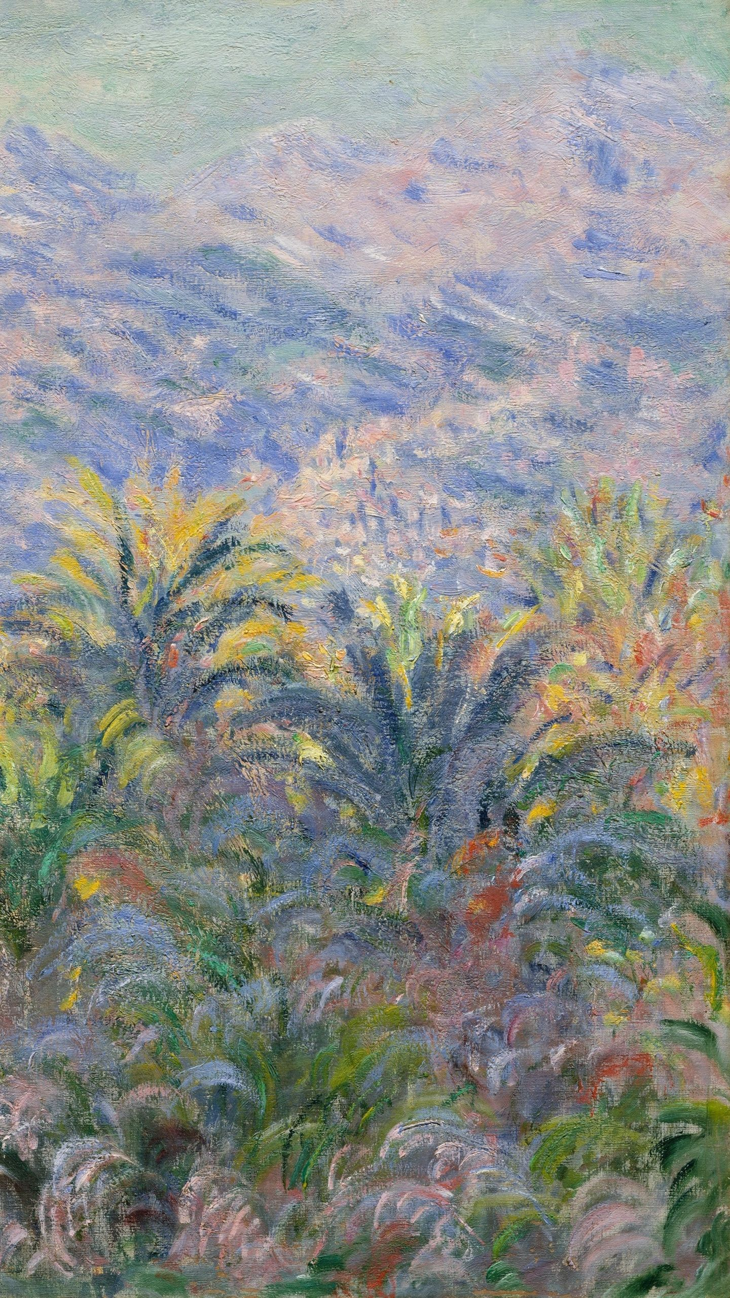 1440x2560 Download wallpaper 1440x2560 claude monet, palm trees at ...