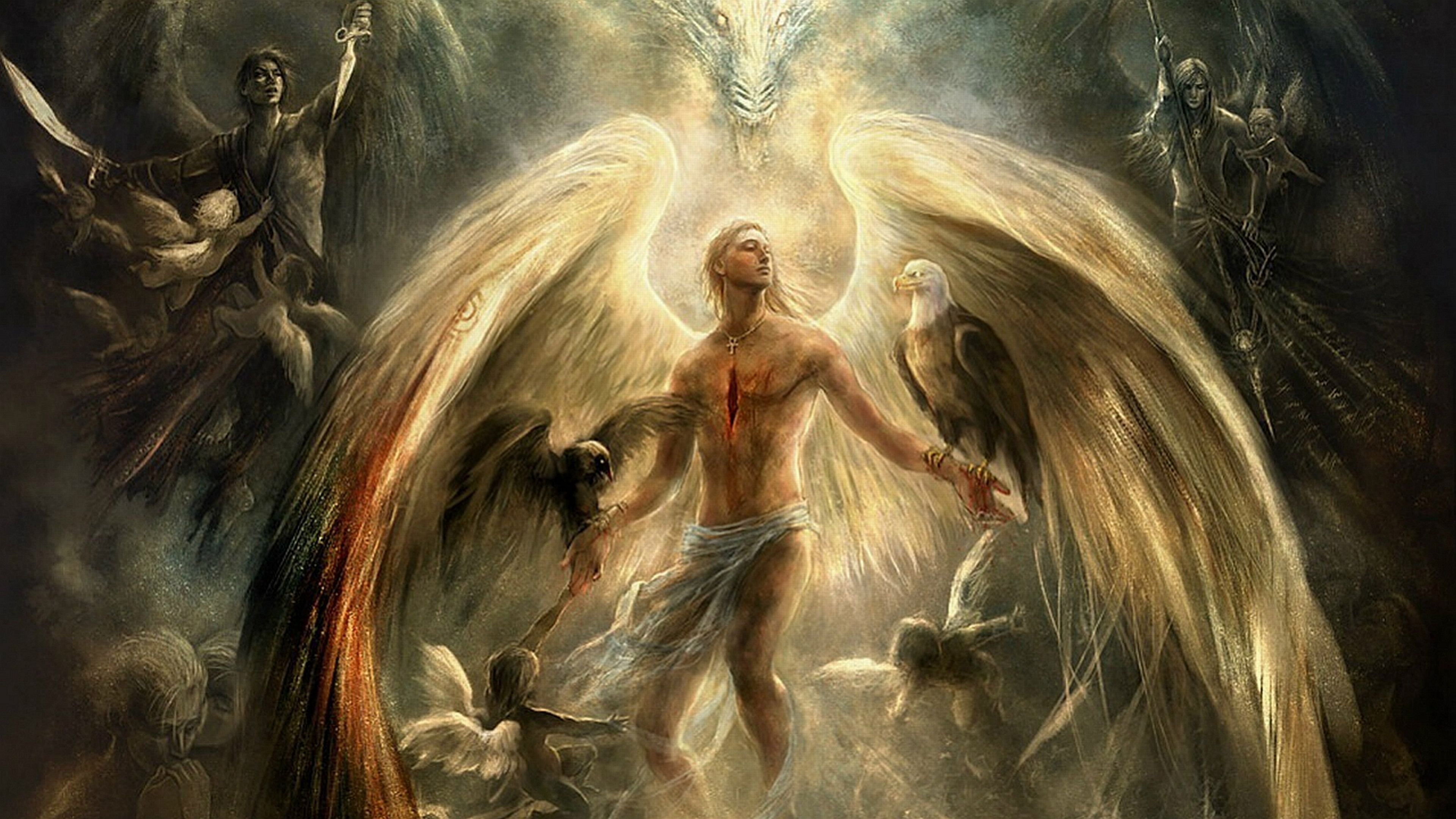 3840x2160 40 4K Ultra HD Angel Wallpapers | Background Images - Wallpaper Abyss