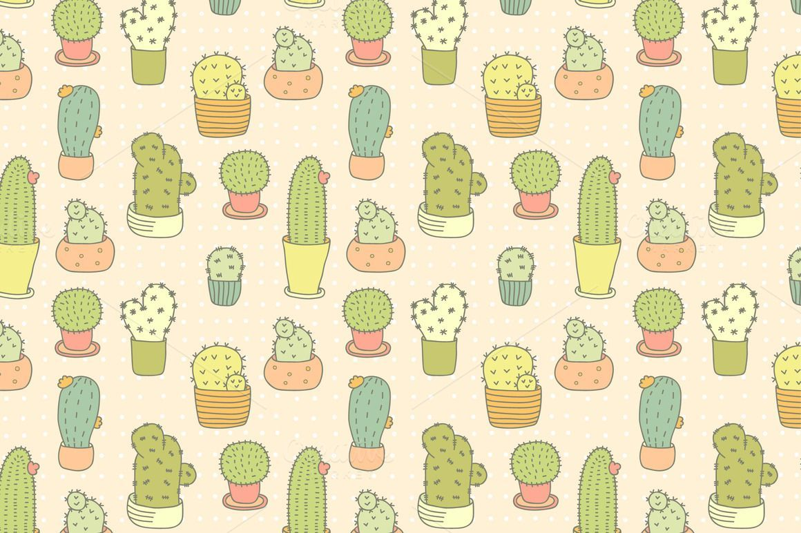 1160x772 Pattern With Cactuses - Patterns - 1 | Graphic patterns ...