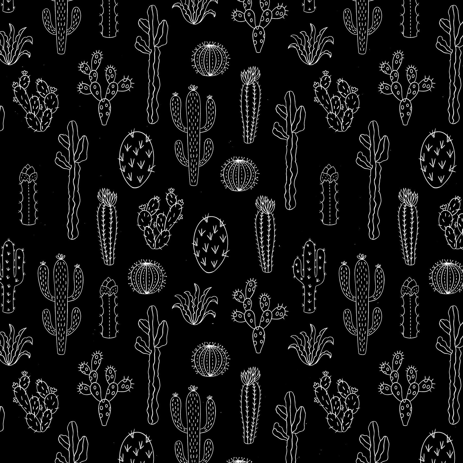 1800x1800 Cactus Silhouette Wall mural | Backgrounds in 2019 | Cactus ...