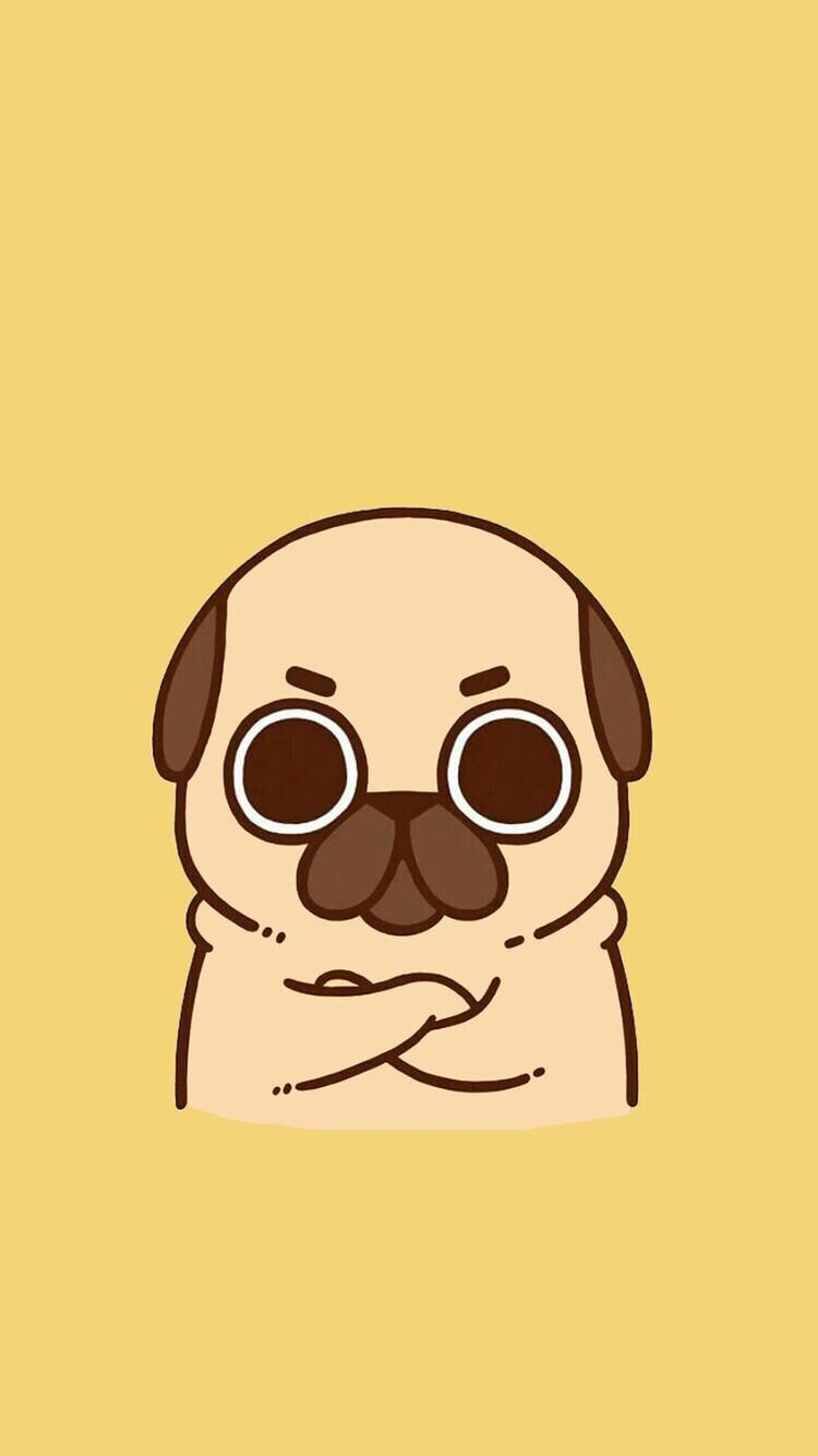 750x1334 Pin by Raven Winners on Wallpapers in 2019 | Pug cartoon ...