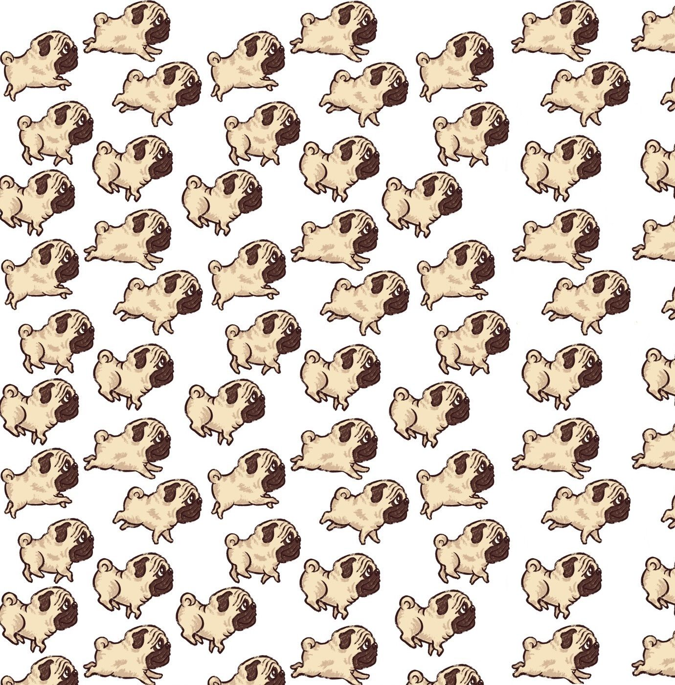 1380x1400 Free download Use this pattern to make a cute Pug Background ...