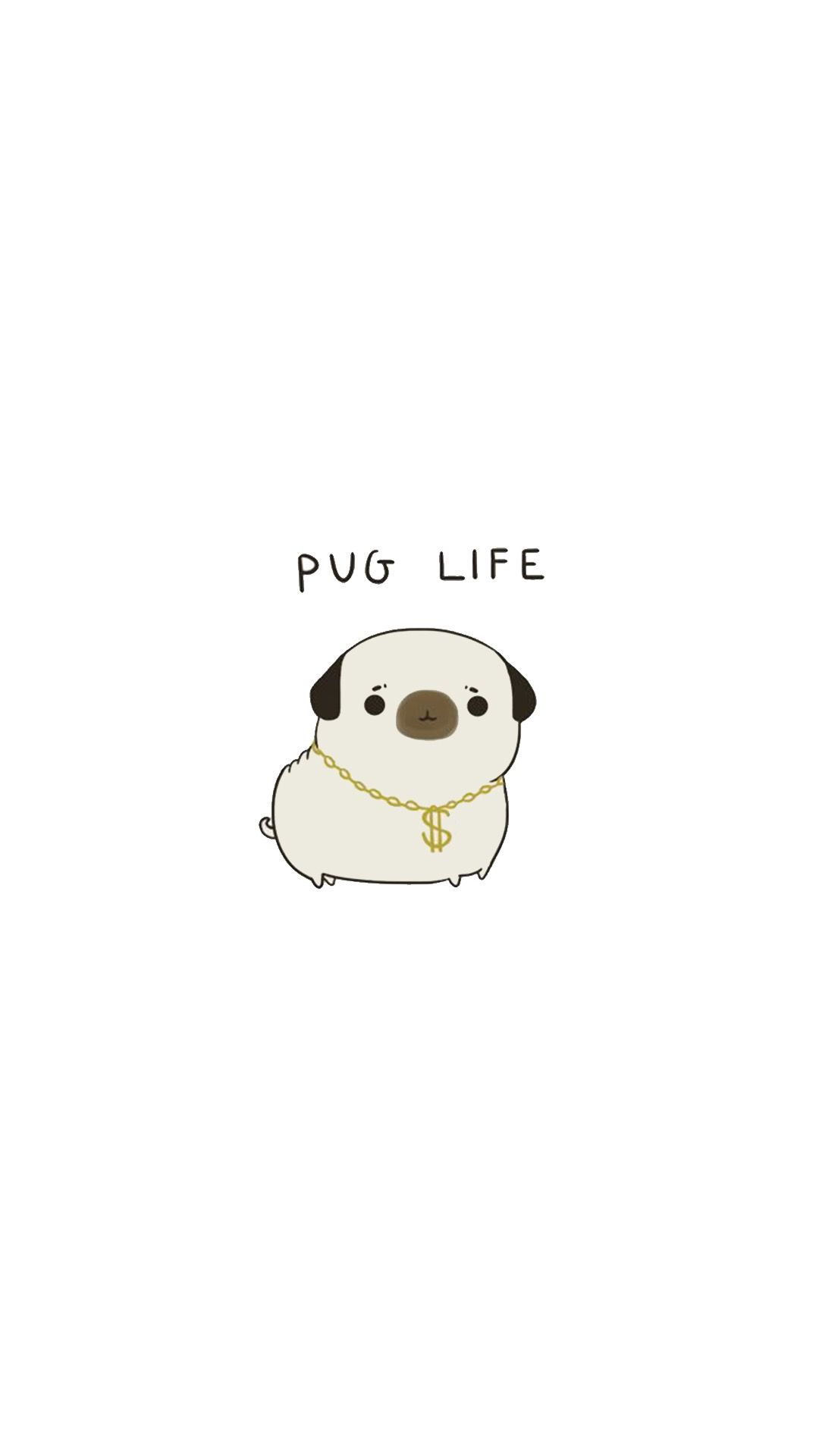 1080x1920 Frases | sshhhh | Kawaii wallpaper, Pug wallpaper, Cellphone ...
