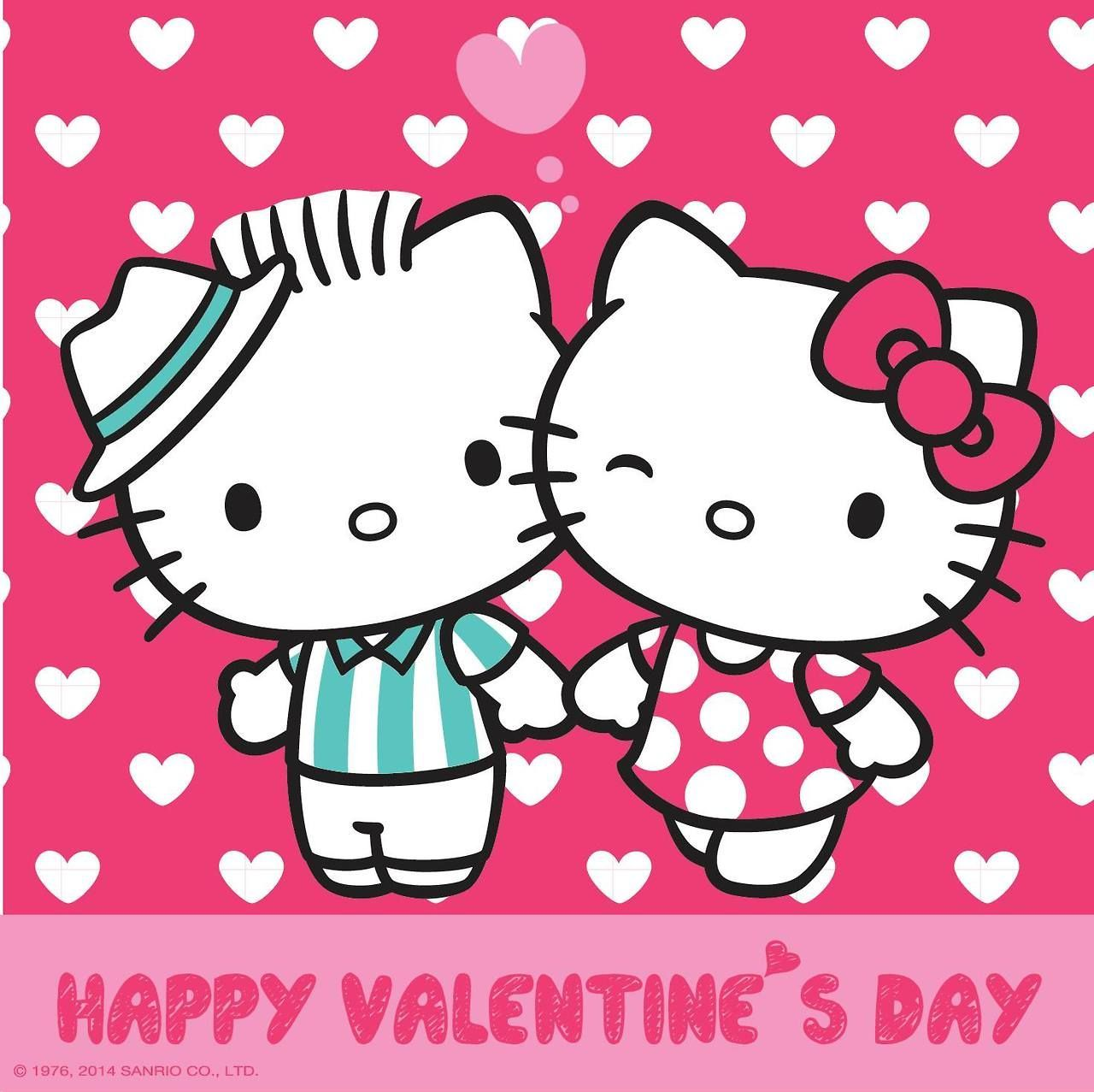 1280x1277 Dear Daniel and Hello Kitty on Valentine's Day (high res ...