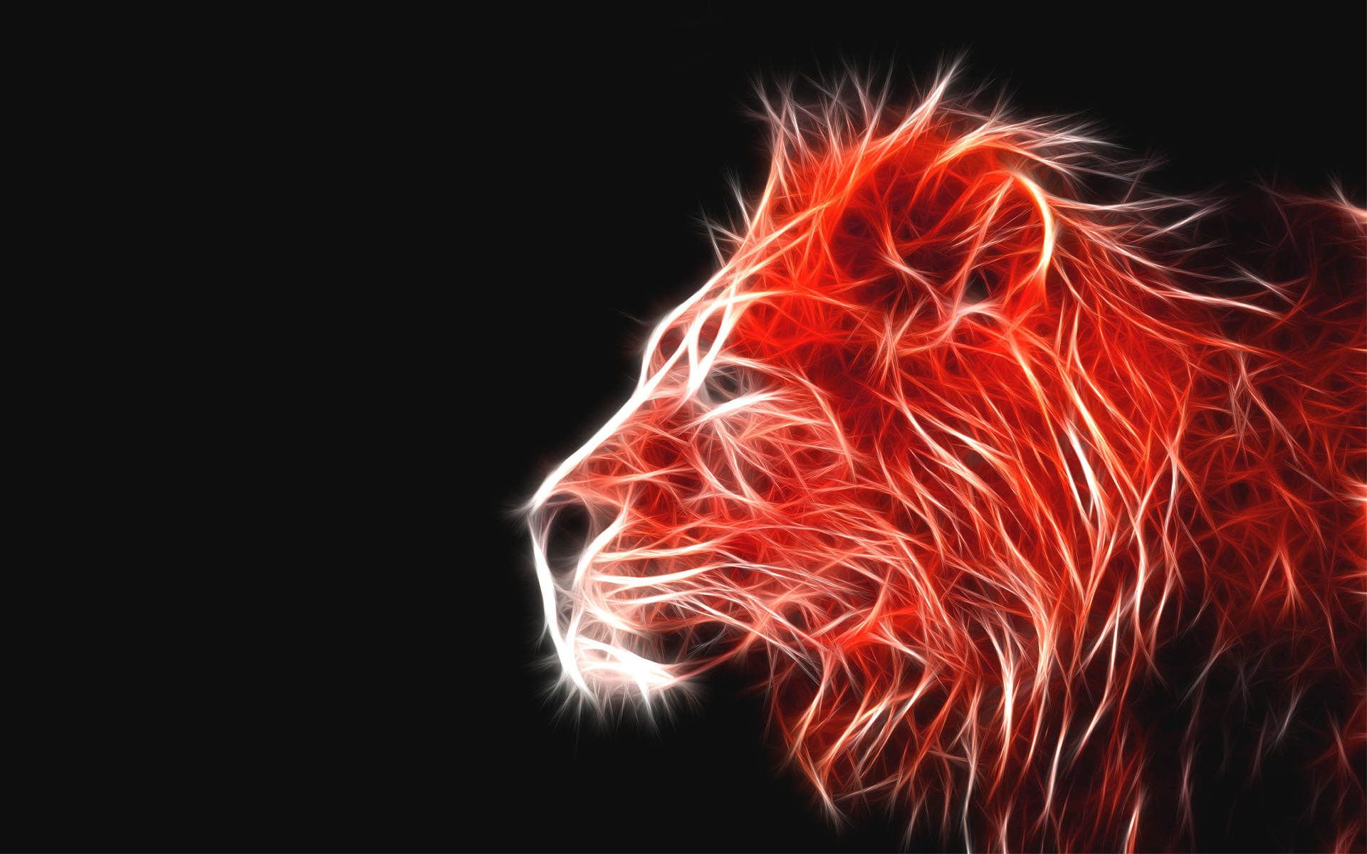 1920x1200 Fire Lion Wallpaper - Black And Red Lion, Hd Wallpapers ...