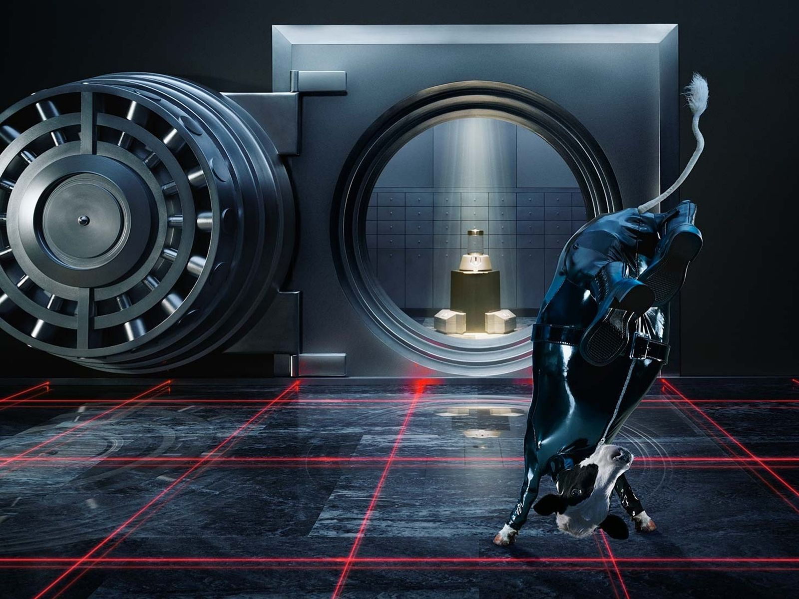 1600x1200 safe, Vault, Cow, Jump, Spy, Laser, Wtf Wallpapers HD ...