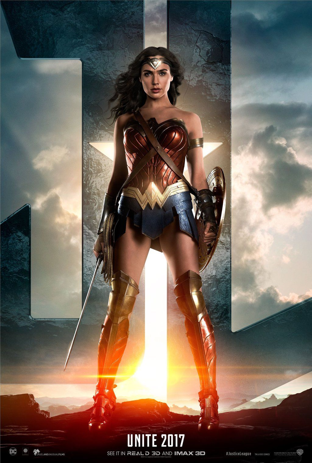 1024x1517 Official Justice League Wonder Woman Poster by Artlover67 on DeviantArt