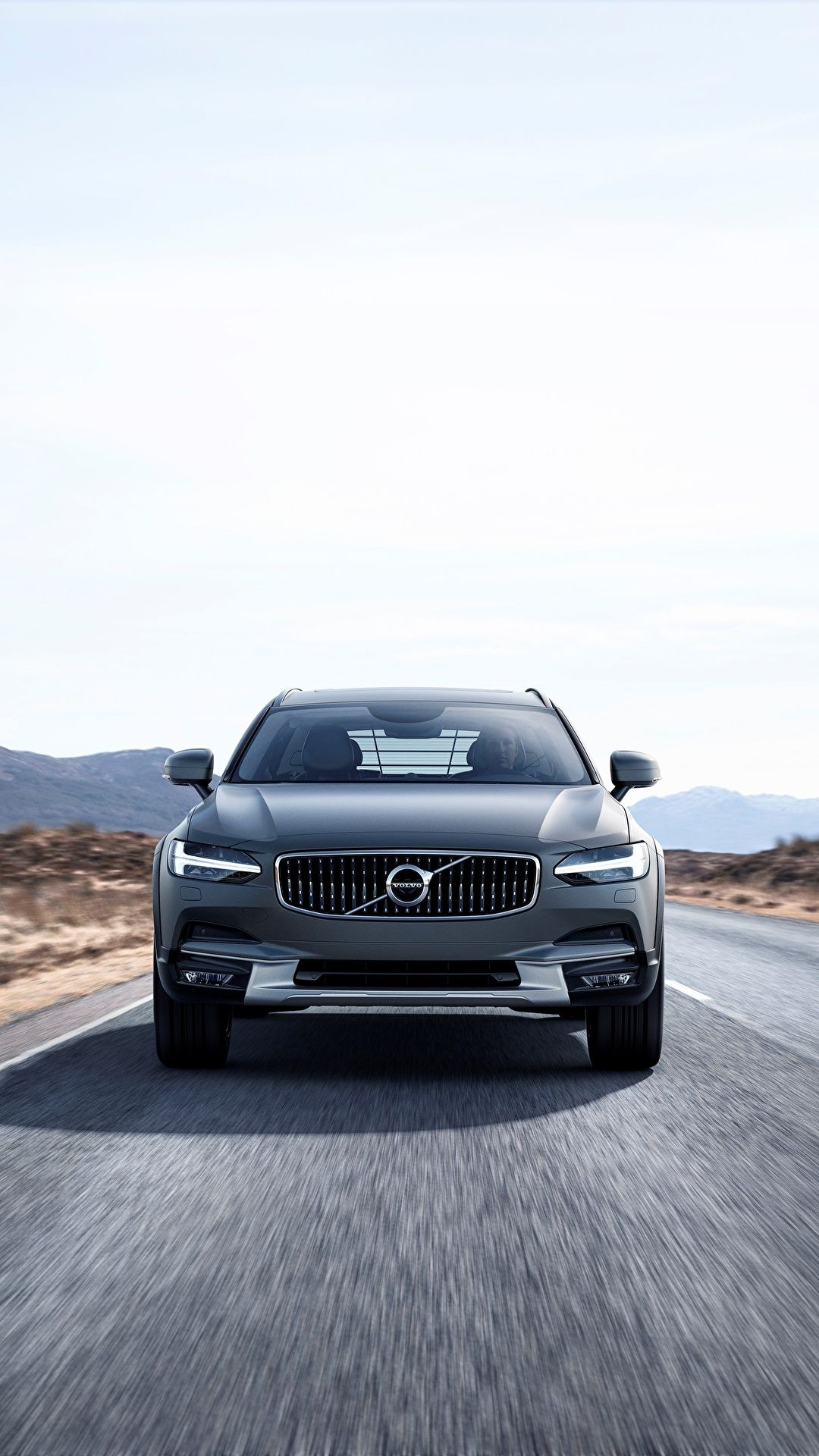 1080x1920 Pictures Volvo Estate car Cross Country V90 Silver 2017 ...