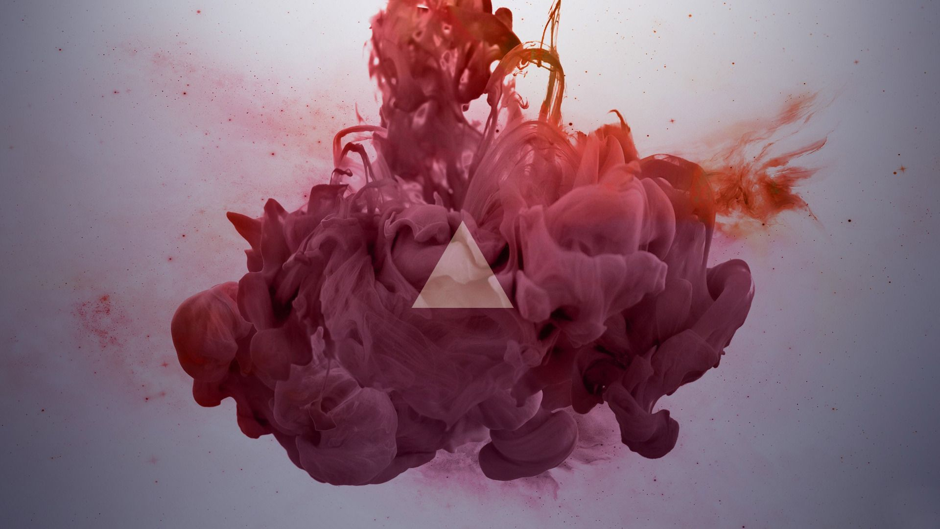1920x1080 Triangle and ink in water Wallpaper #4339 | ART | Smoke art ...