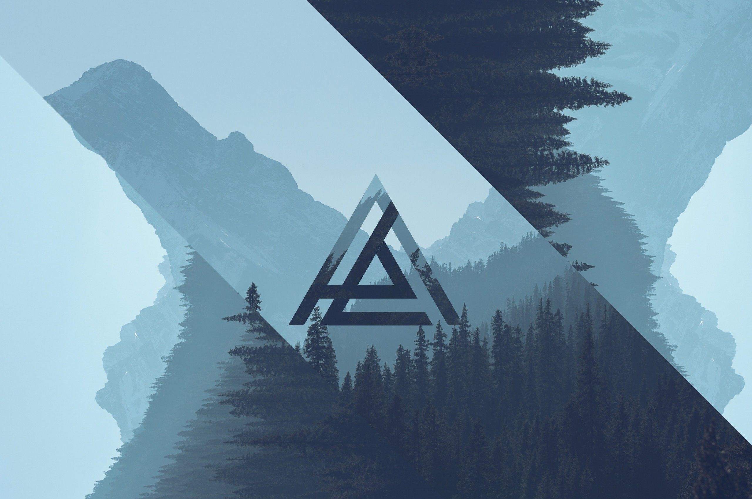 2560x1700 Download 2560x1700 Triangle, Design, Landscape Wallpapers ...