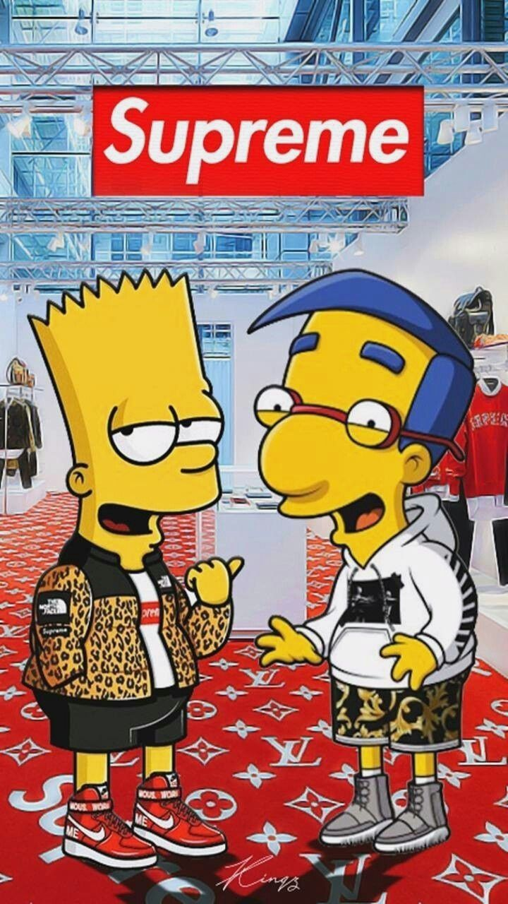 720x1280 Stunning Supreme Bart Wallpaper images For Free Download ...
