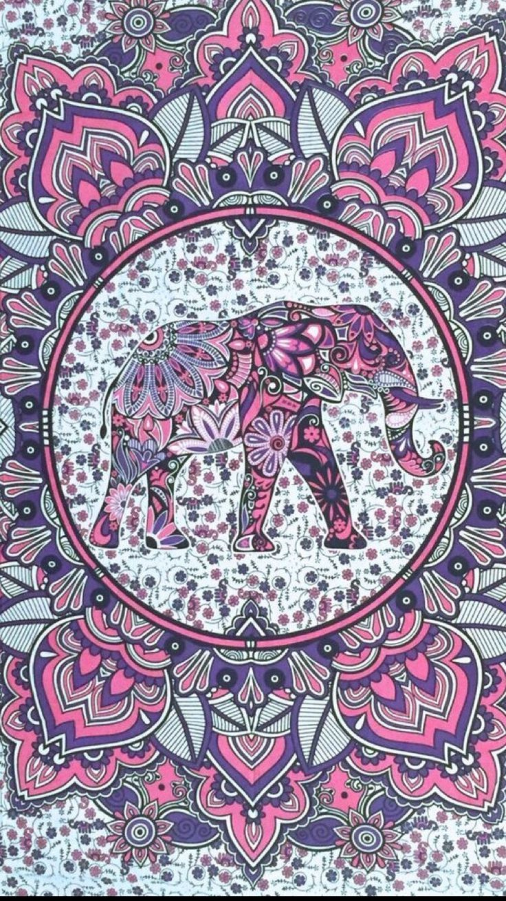 736x1309 Pin by sweet lovely on Patterns | Elephant wallpaper ...