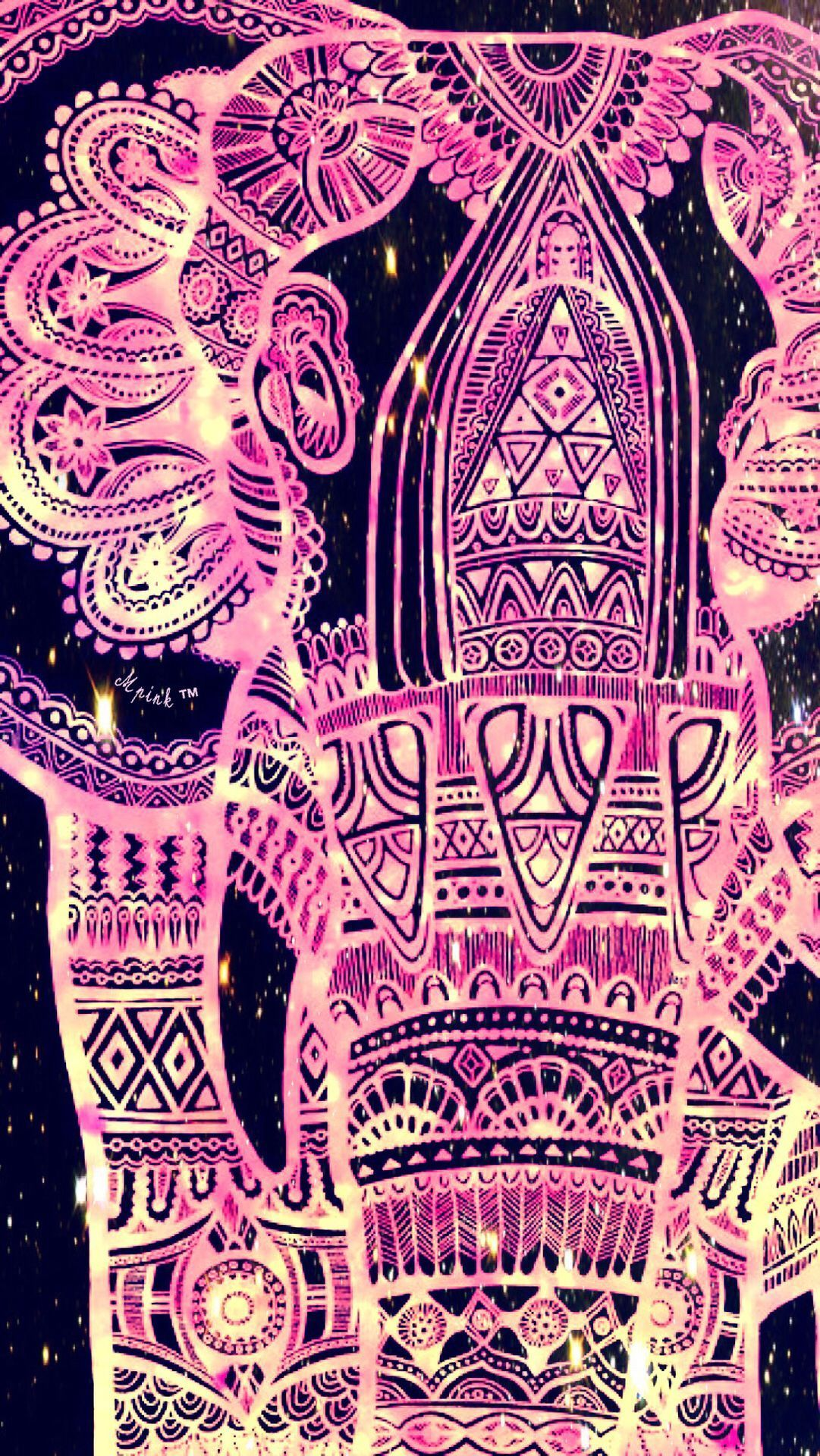 1081x1920 45+ Cute Tribal Elephant Wallpapers - Download at WallpaperBro