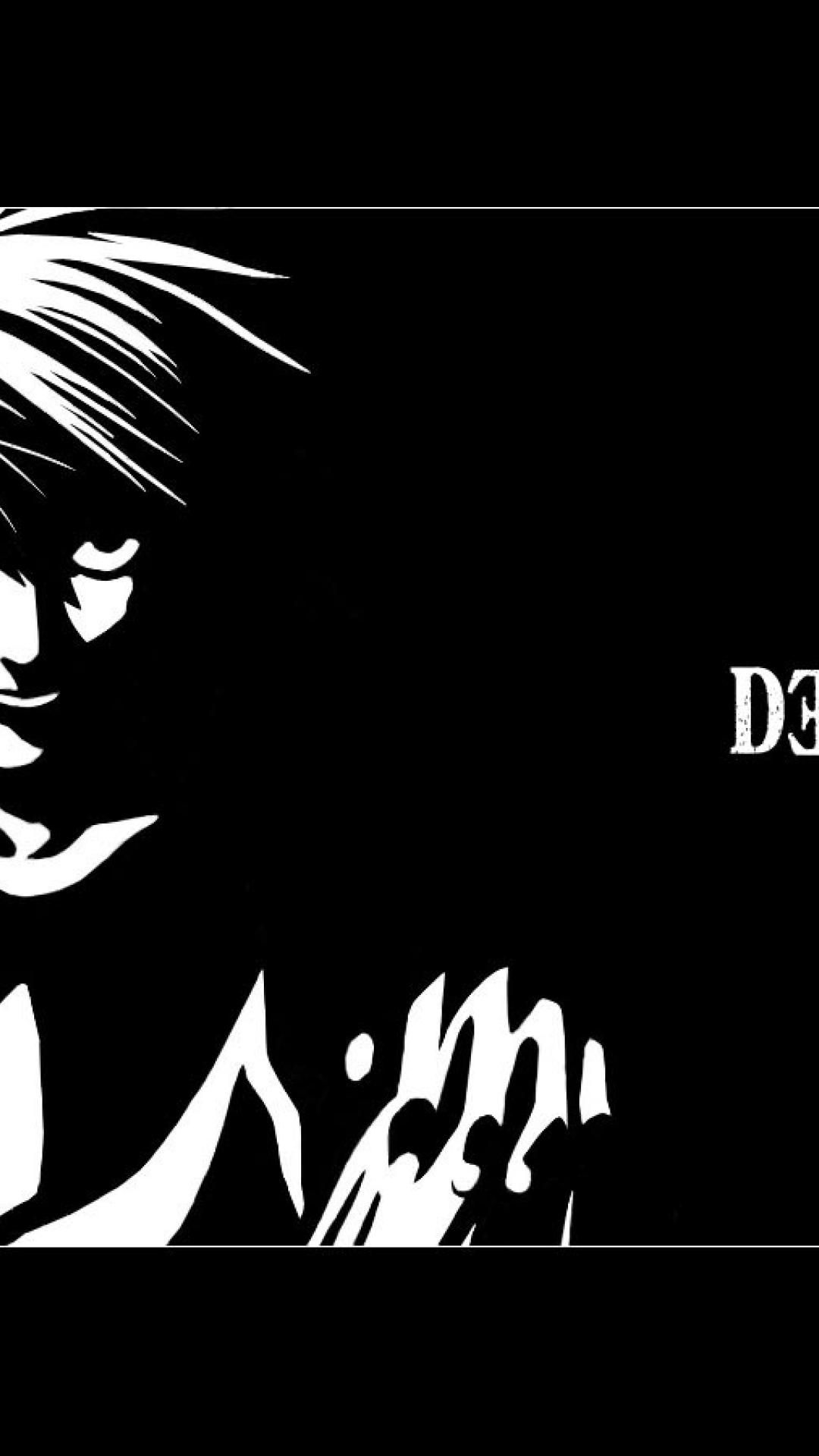 1080x1920 ScreenHeaven: Death Note L black and white illustrations desktop and ...