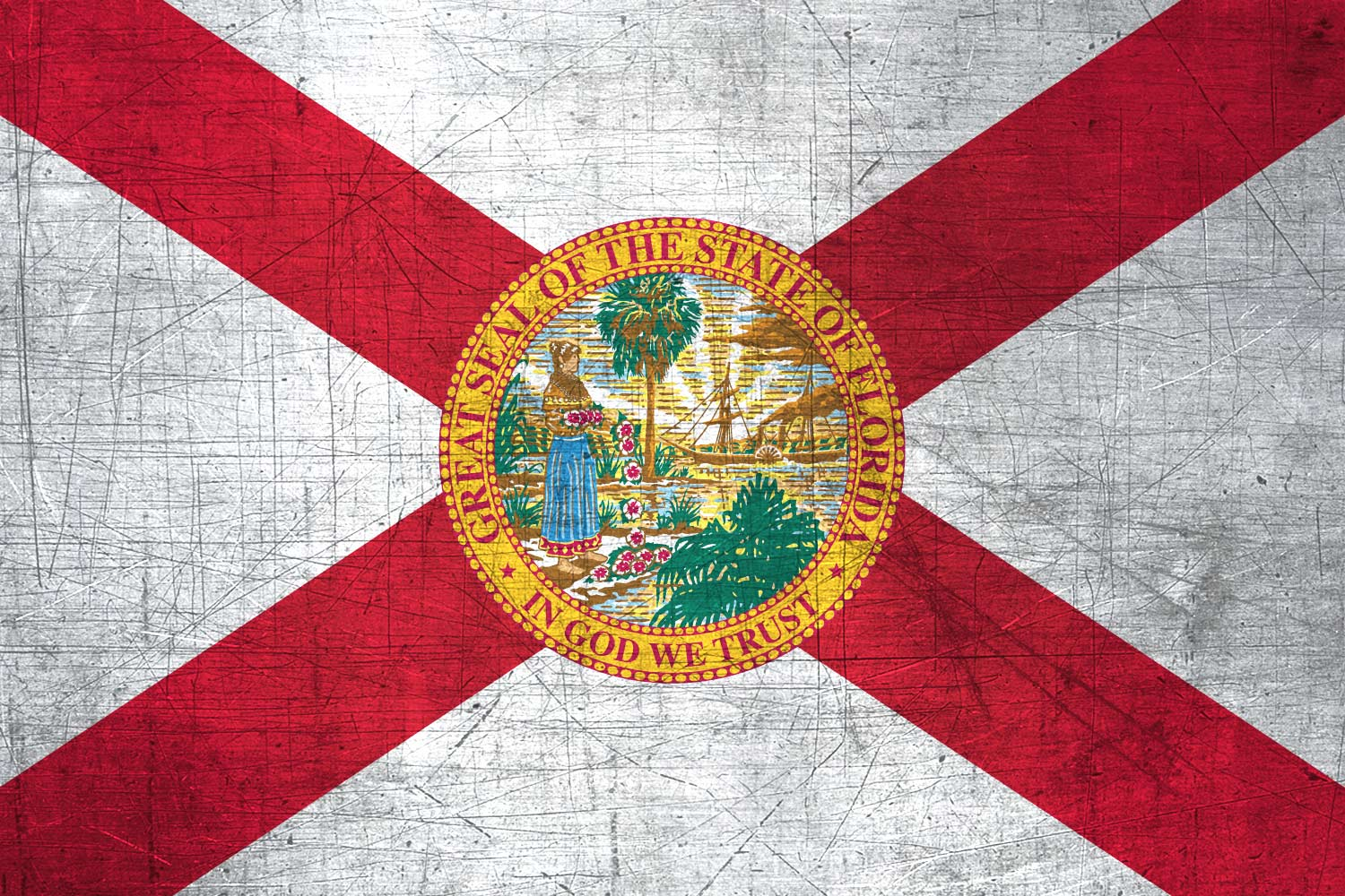 1500x1000 Floridian Flag Metal (Flag of Florida) - Download it for free