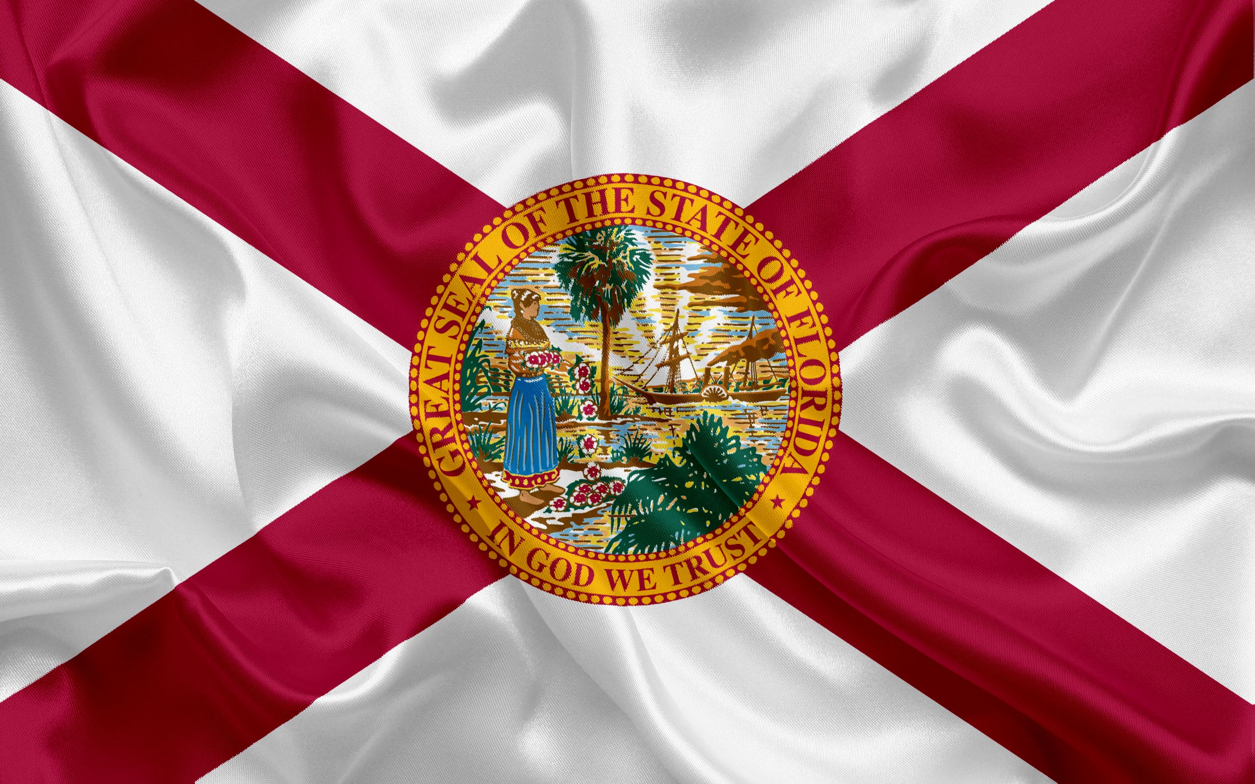 2560x1600 Download wallpapers Florida Flag, flags of States, flag ...