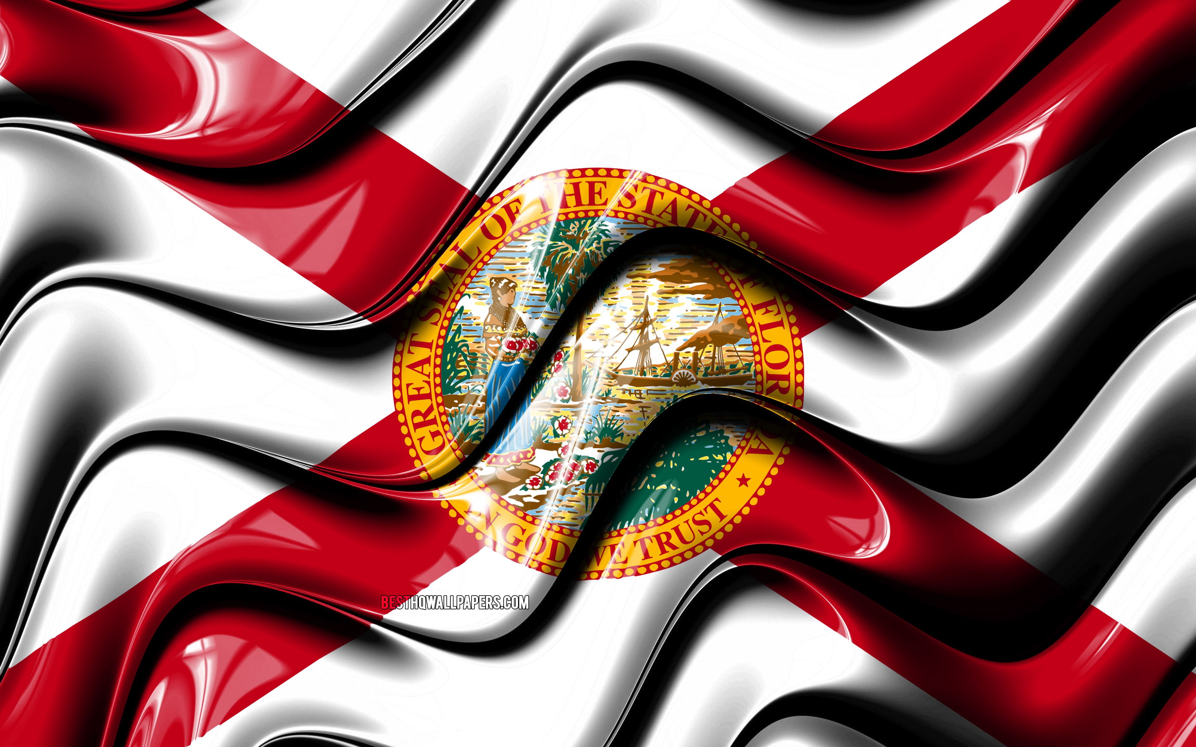 3840x2400 Download wallpapers Florida flag, 4k, United States of ...