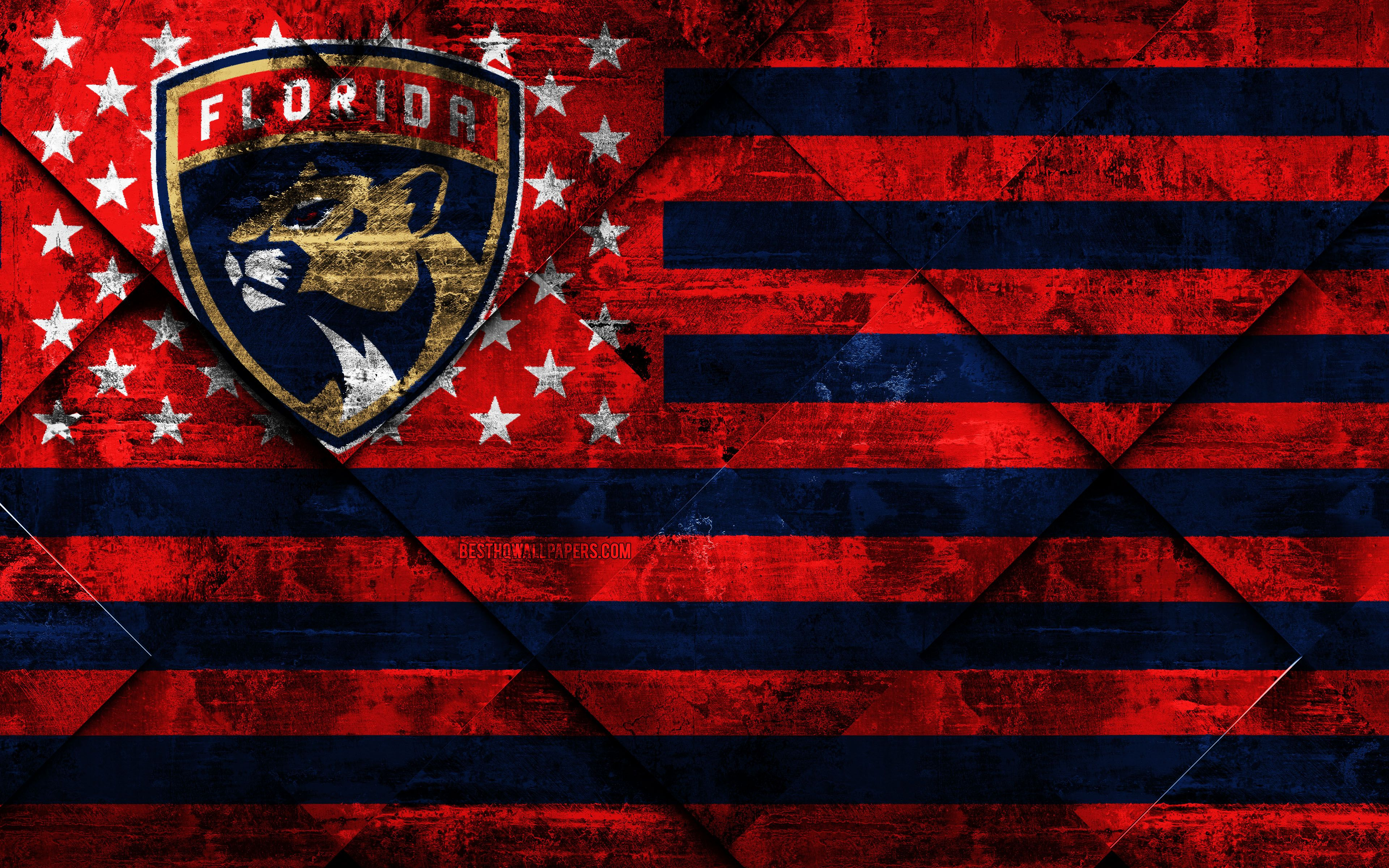 3840x2400 Download wallpapers Florida Panthers, 4k, American hockey ...