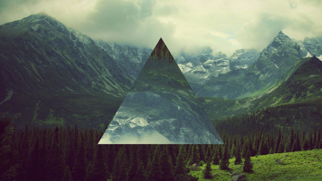 1245x700 Triangles manipulation hipster abstract wallpaper ...