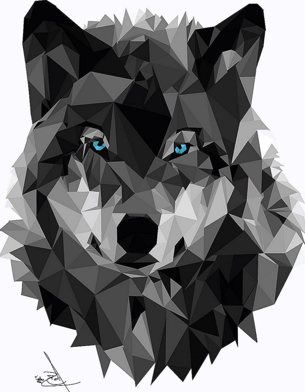 992x1272 Geometric Wolf Wallpapers - Wolf-Wallpapers.Pro