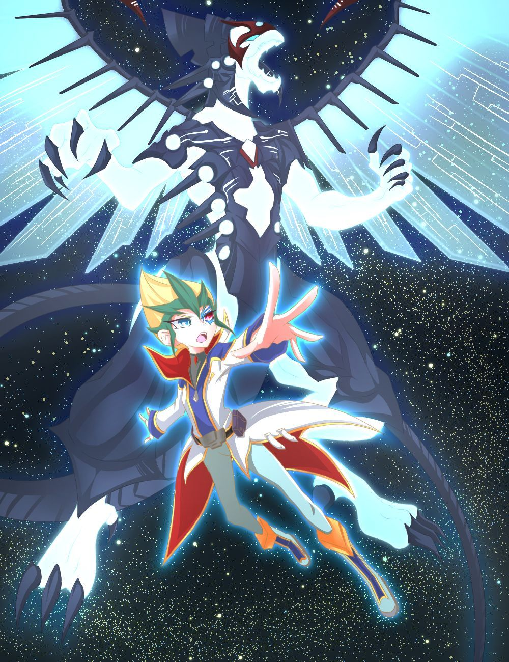 1000x1300 Kaito Tenjo and Galaxy Eyes Photon Dragon | Yu-Gi-Oh! Zexal ...