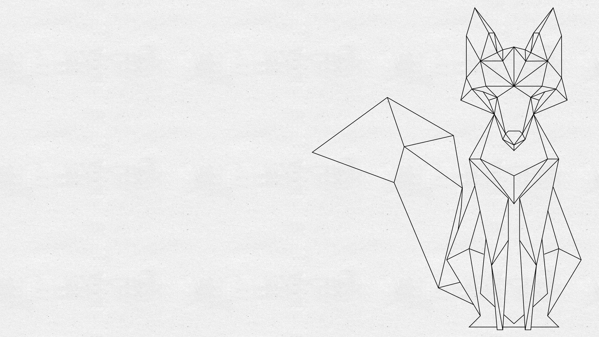 1920x1080 Geometric Fox [1920x1080] More sizes in comments : wallpapers