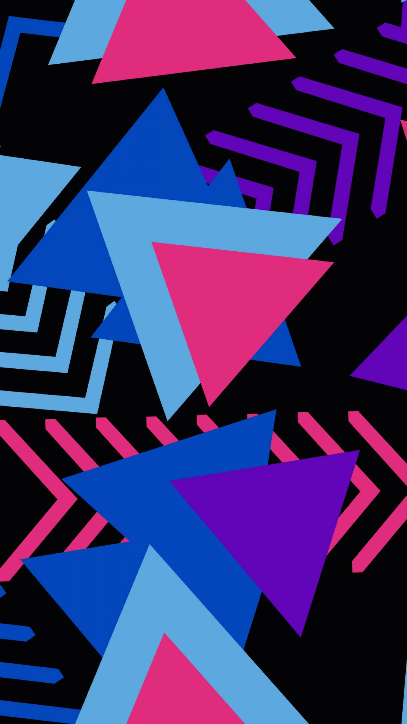 1350x2400 Download wallpaper 1350x2400 triangles, triangle, colorful ...