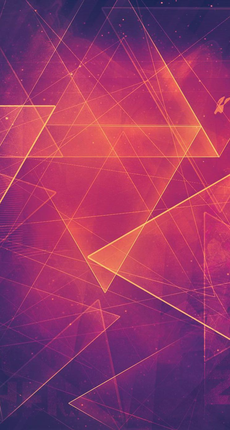 744x1392 The iPhone Wallpapers » Triangle Shapes