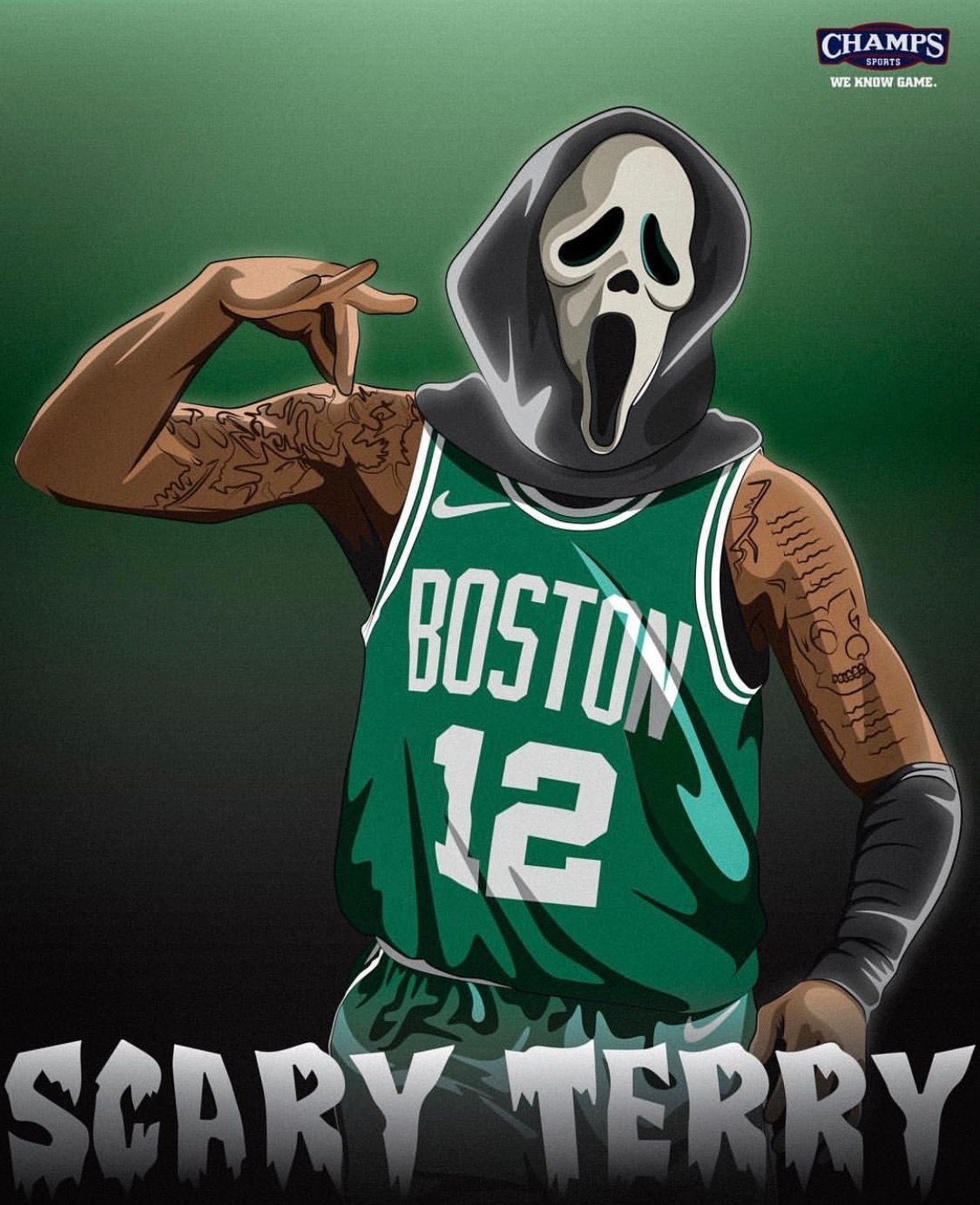 1125x1383 Pin by Jake Moore on Ball Is Life | Scary terry, Boston ...